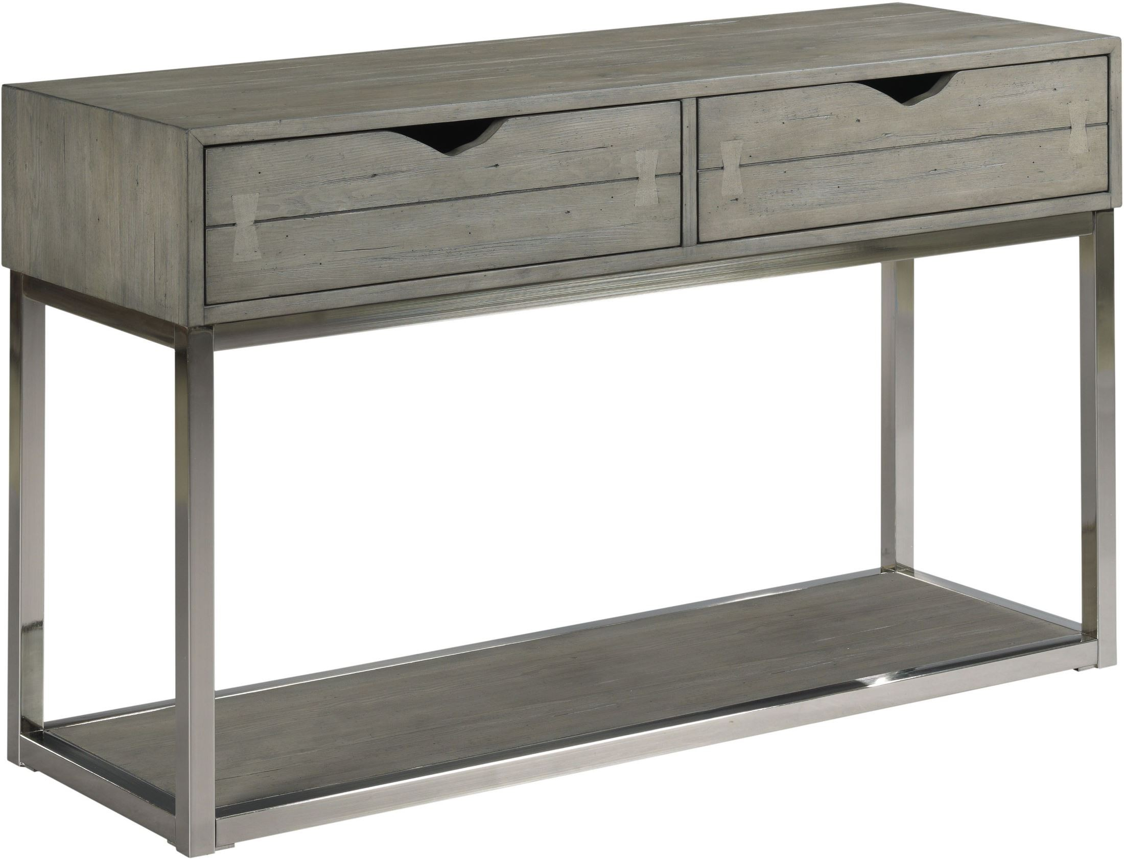 Fabulous Lakeland Gray Cloud With Brushed Nickel Metal Sofa Table Alphanode Cool Chair Designs And Ideas Alphanodeonline
