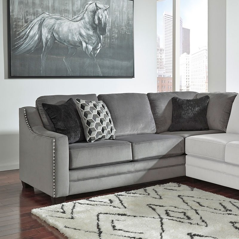 Enjoyable Bicknell Charcoal Right Sofa Sectional Pdpeps Interior Chair Design Pdpepsorg