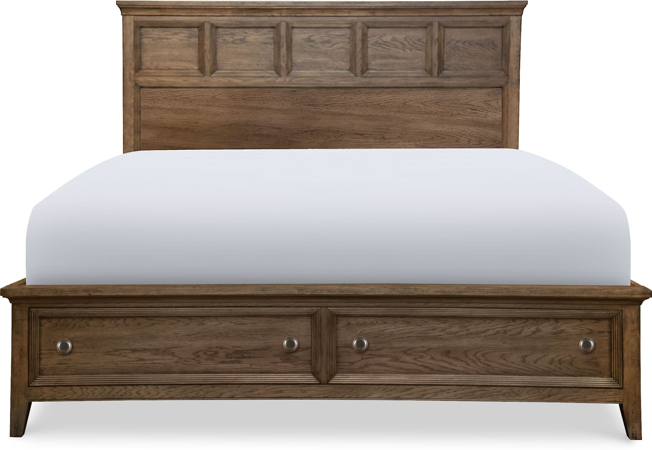 Forest Hills Classic Brown Cal King Panel Storage Bed 1stopbedrooms