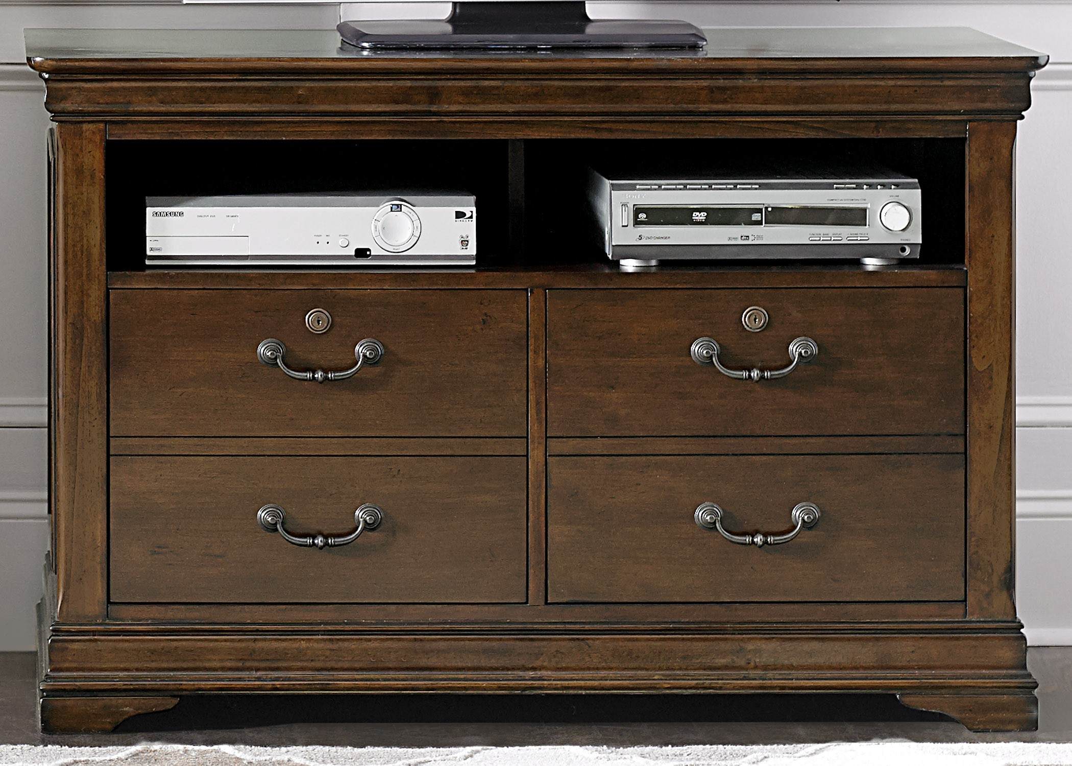 Chateau Valley Brown Cherry Home Office Set Media Gallery 2