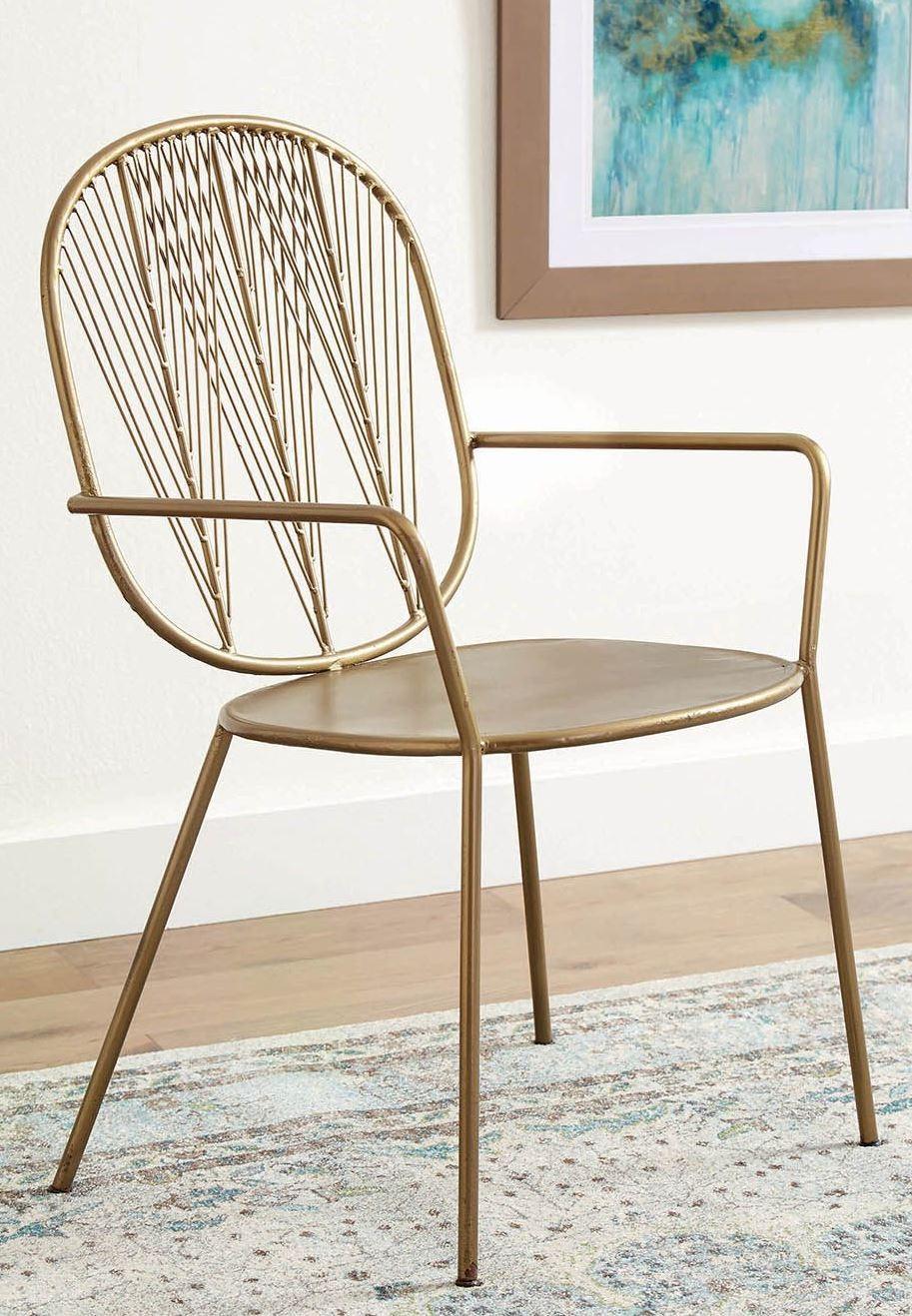 Awe Inspiring Brass Metal Accent Chair Set Of 2 Andrewgaddart Wooden Chair Designs For Living Room Andrewgaddartcom