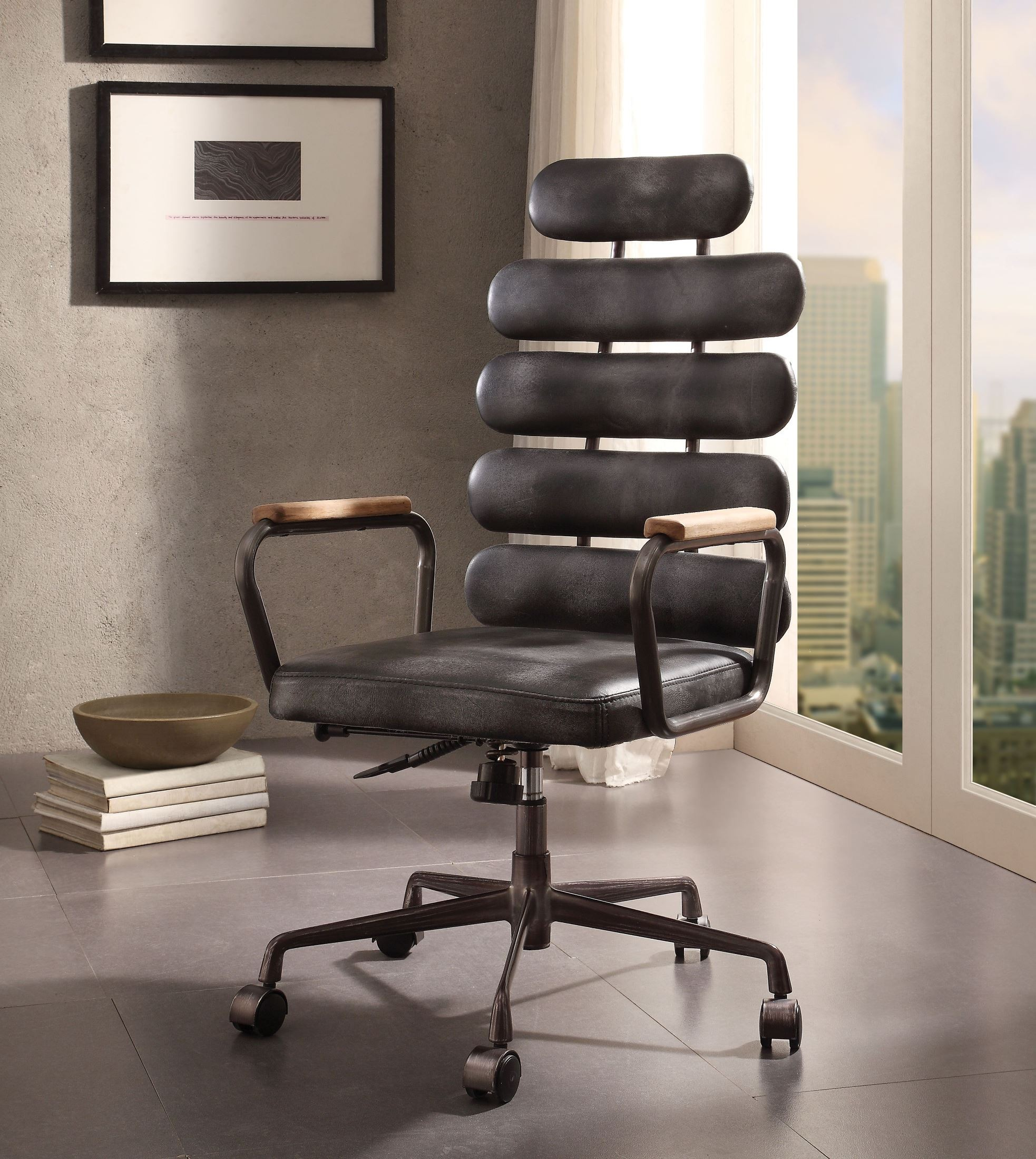 Swell Calan Vintage Black Leather Executive Office Chair Ncnpc Chair Design For Home Ncnpcorg