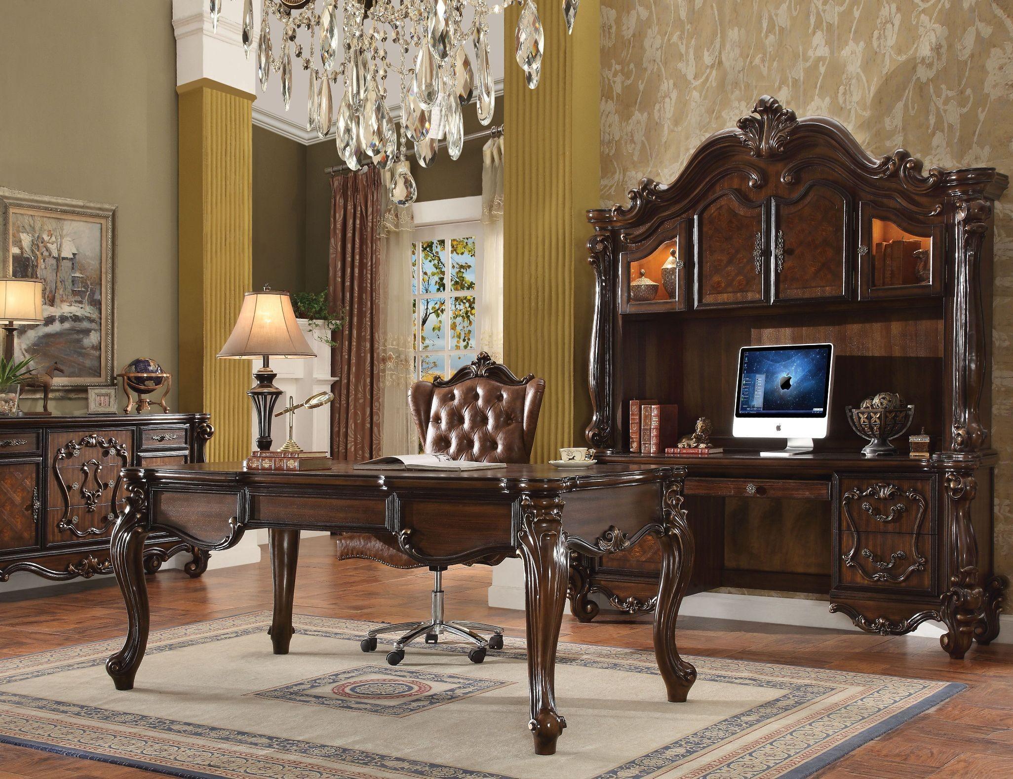 Versailles Cherry Oak Executive Home Office Set Leg