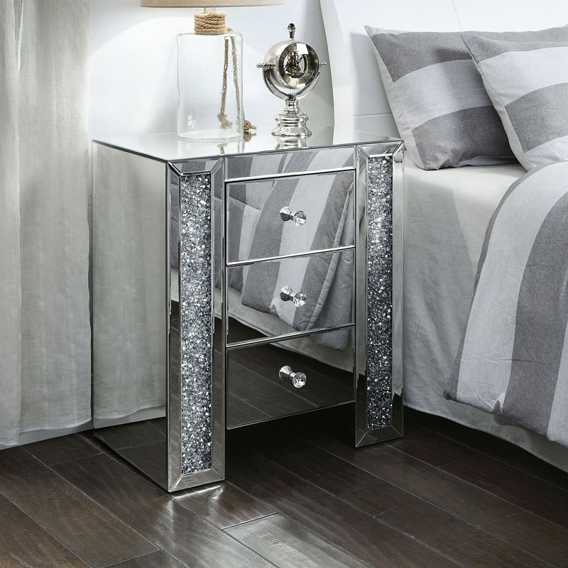 Noralie Mirrored Nightstand End Table 1stopbedrooms