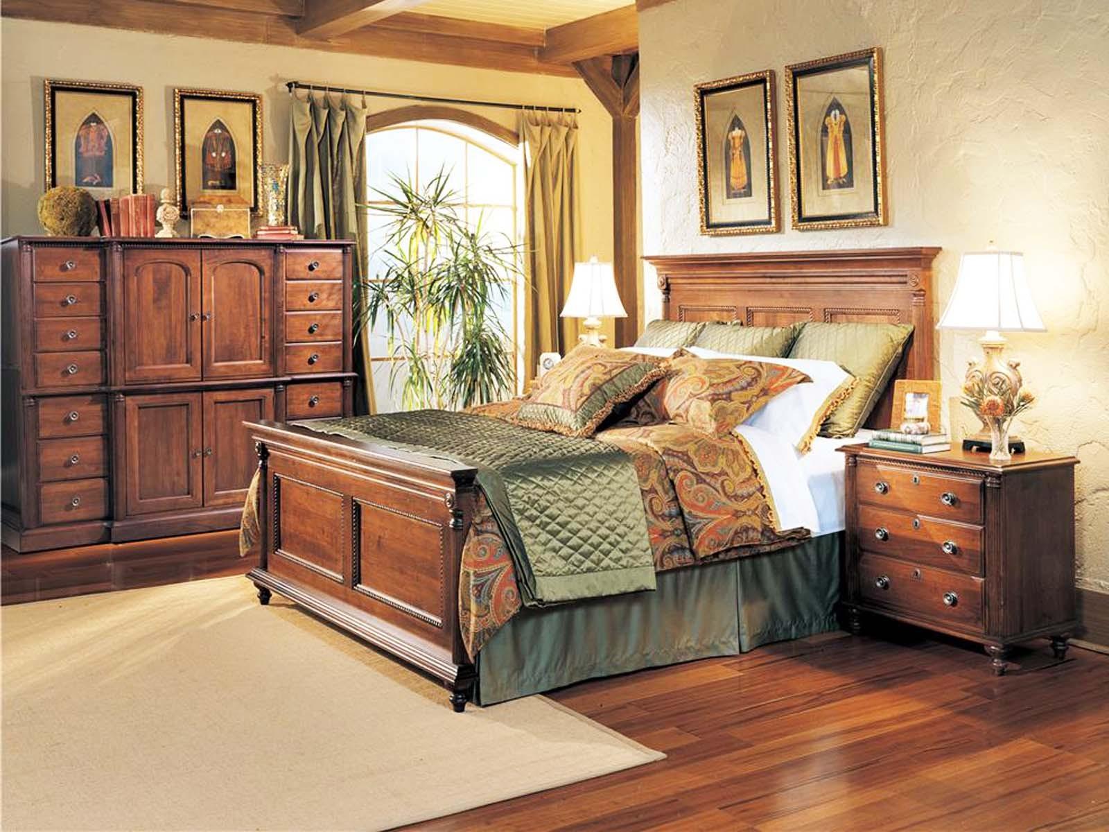Durham Furniture Savile Row Panel Bedroom Set in Victorian Mahogany