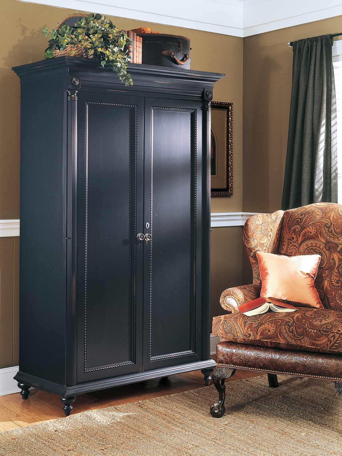 Durham furniture savile row armoire in antique black 980 160 antb media gallery