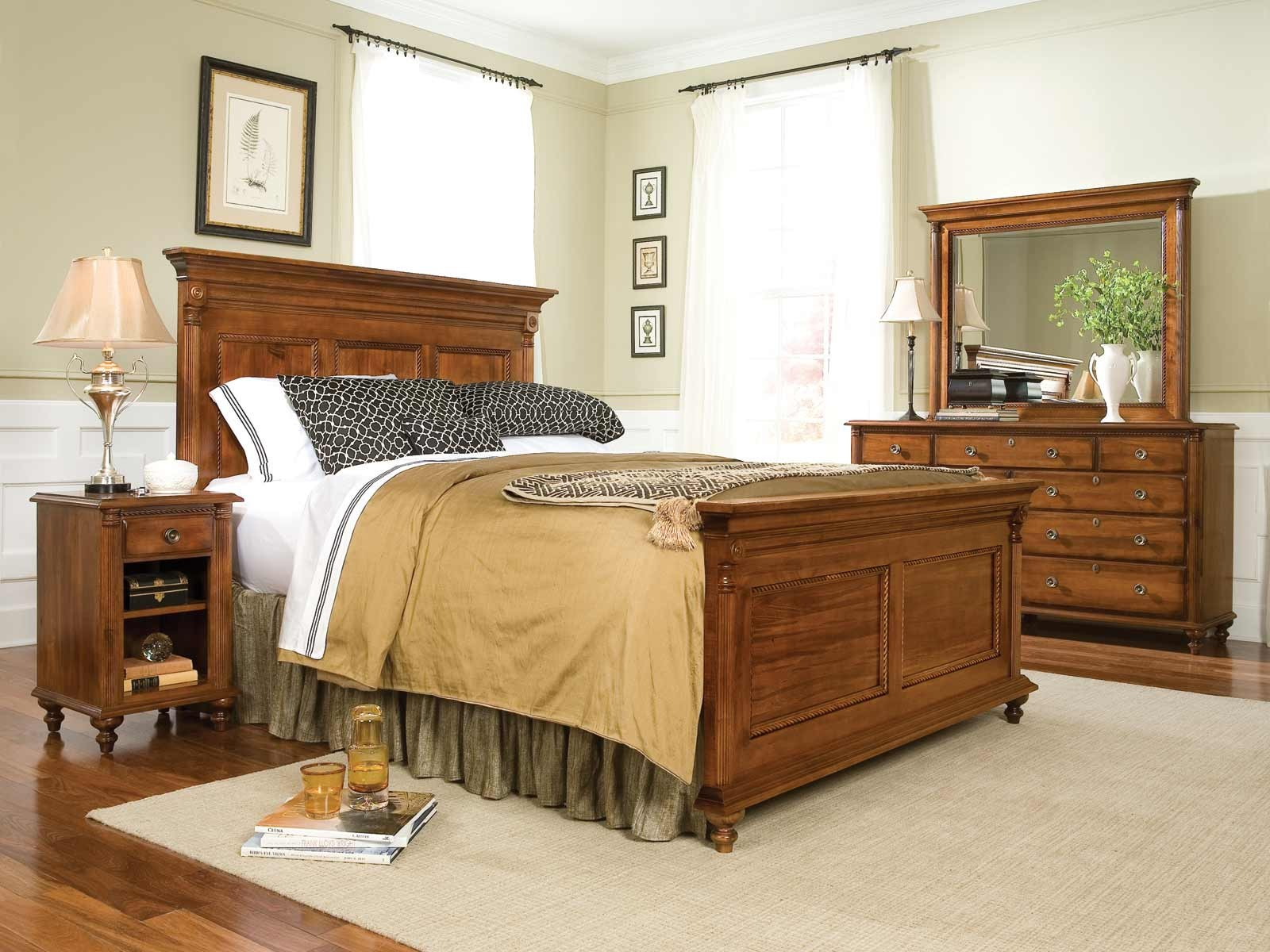 Durham furniture savile row king panel bed in park lane - Bedroom furniture sets buy now pay later ...