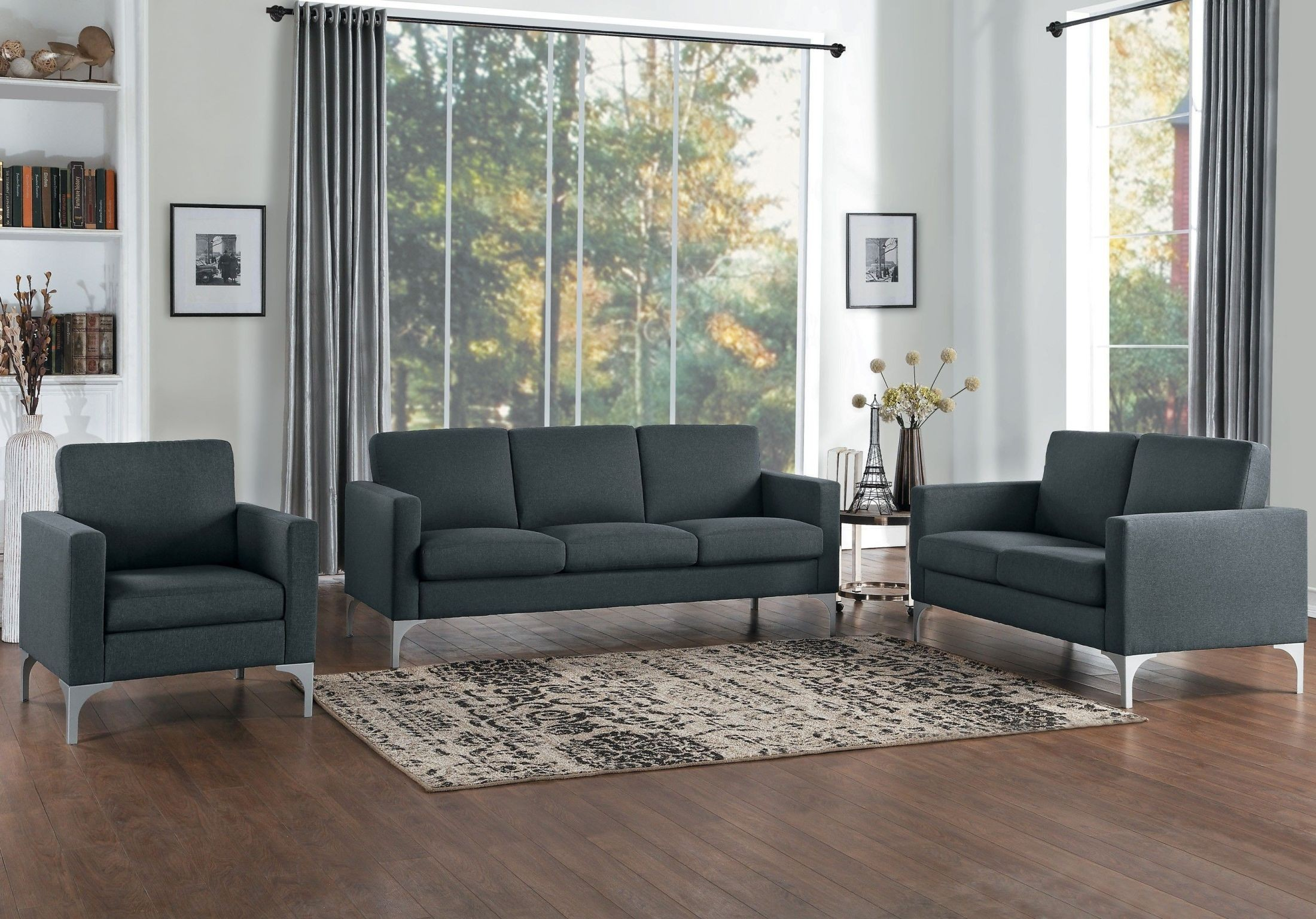 Soho Dark Gray Living Room Set 1stopbedrooms