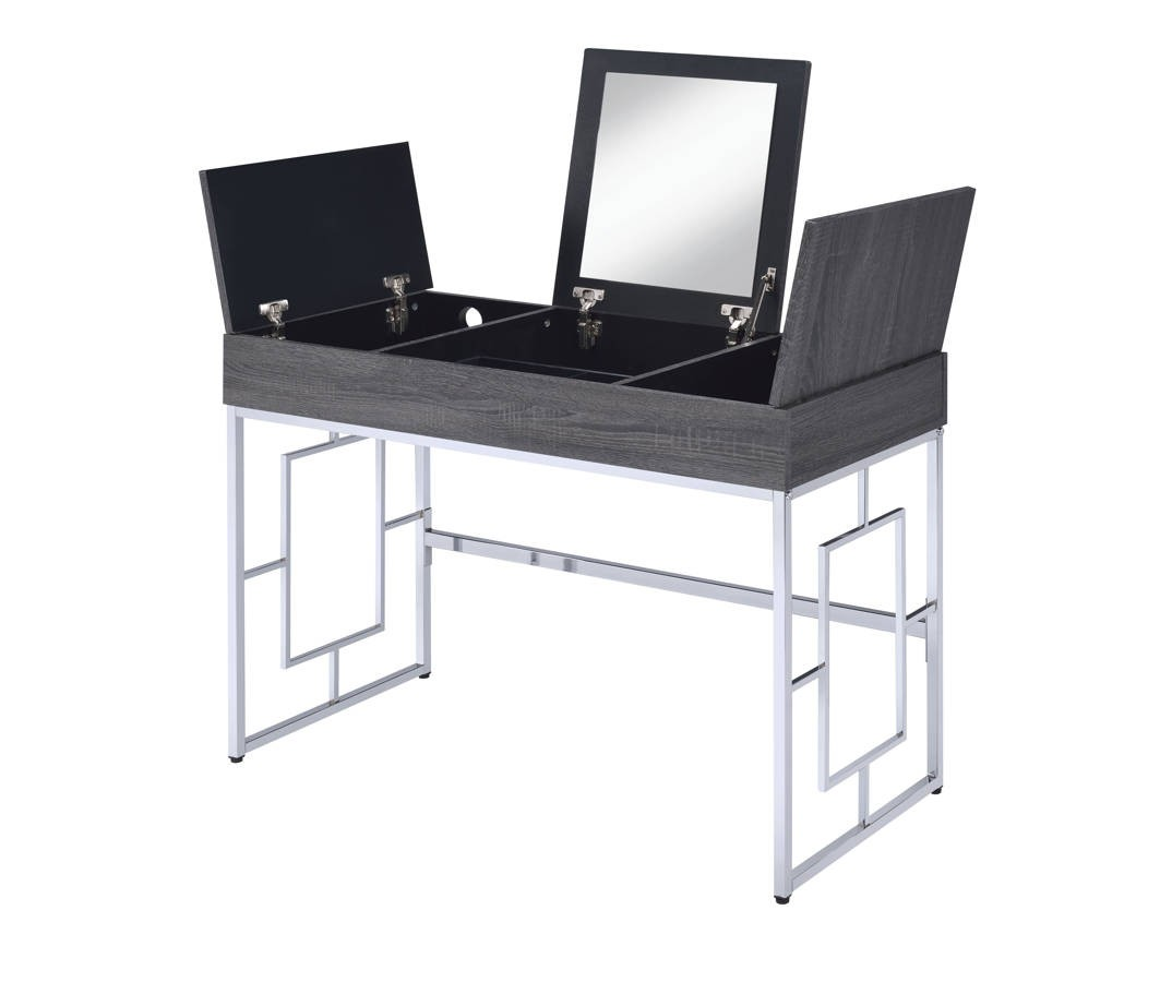 Acme Furniture Saffron Black Vanity Desk 1stopbedrooms