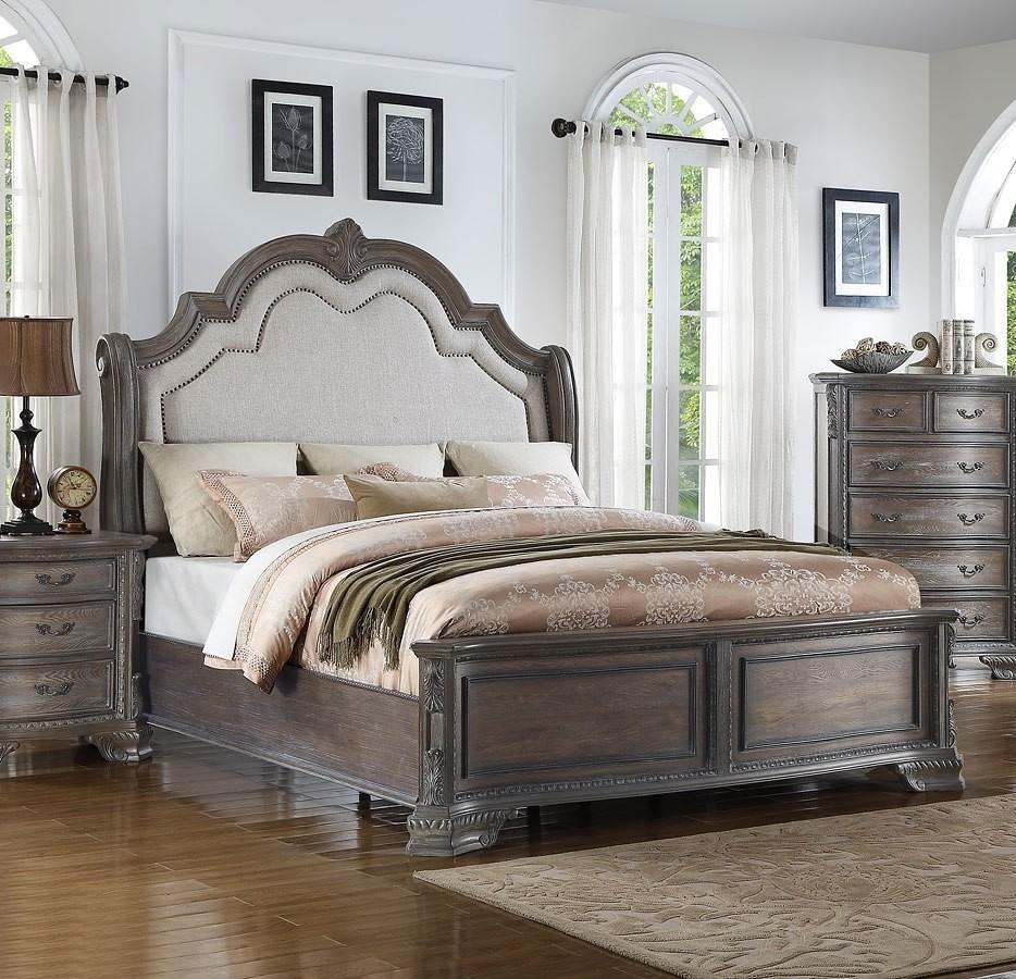 sheffield panel bedroom set (antique grey) - 1stopbedrooms.