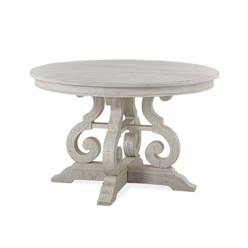 Bronwyn Chalk White 48 Round Dining Table 1stopbedrooms