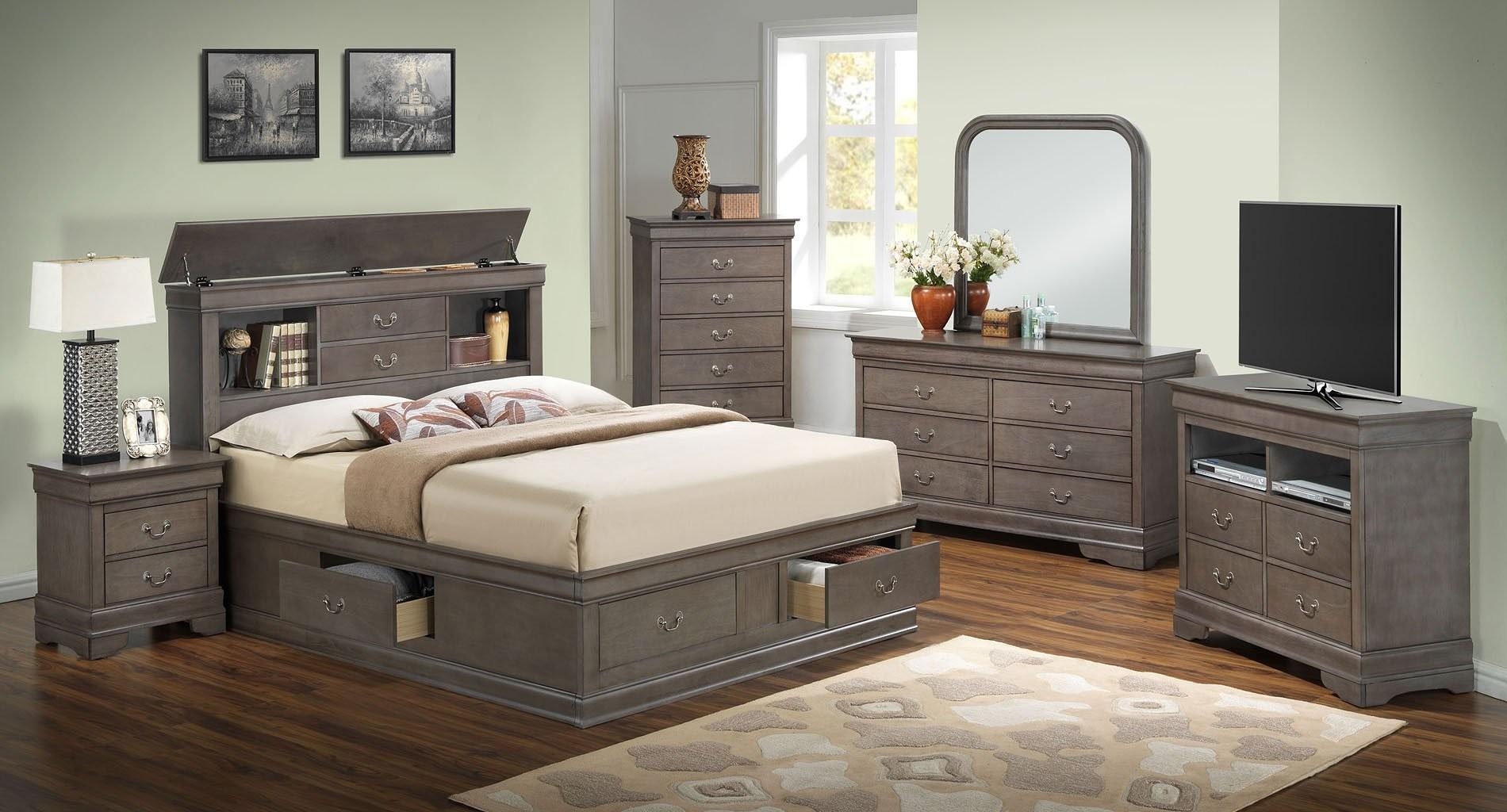 G3105 Bookcase Storage Bedroom Set 1stopbedrooms