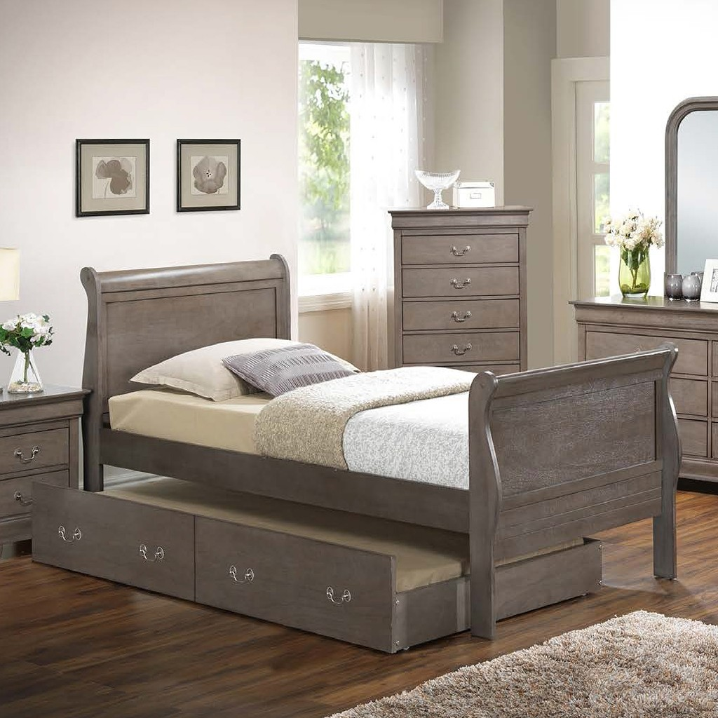 G3105 Youth Sleigh Bed W Trundle Twin 1stopbedrooms
