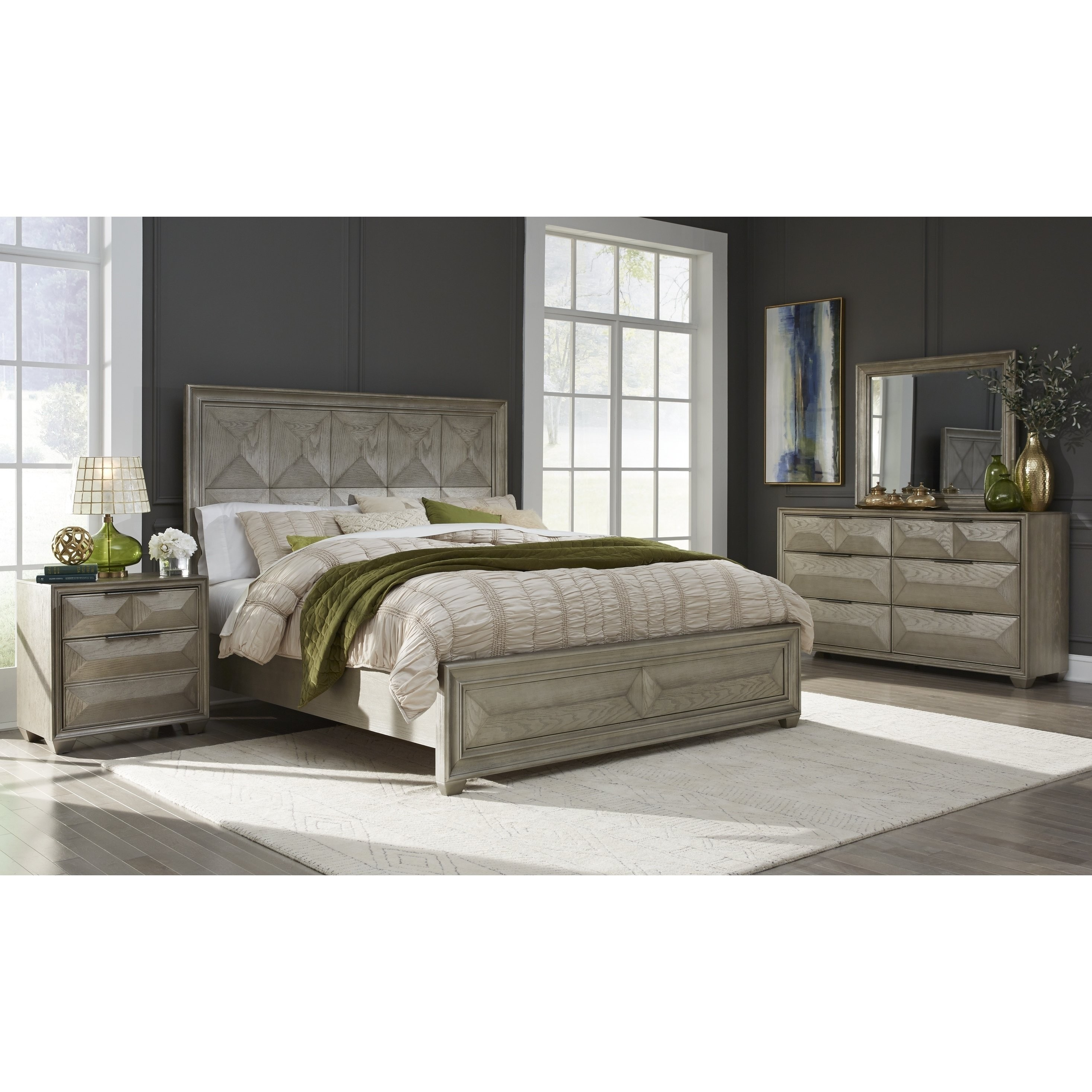 Bedroom Furniture Usa: Global Furniture USA Soho Silver Wood Queen Bed