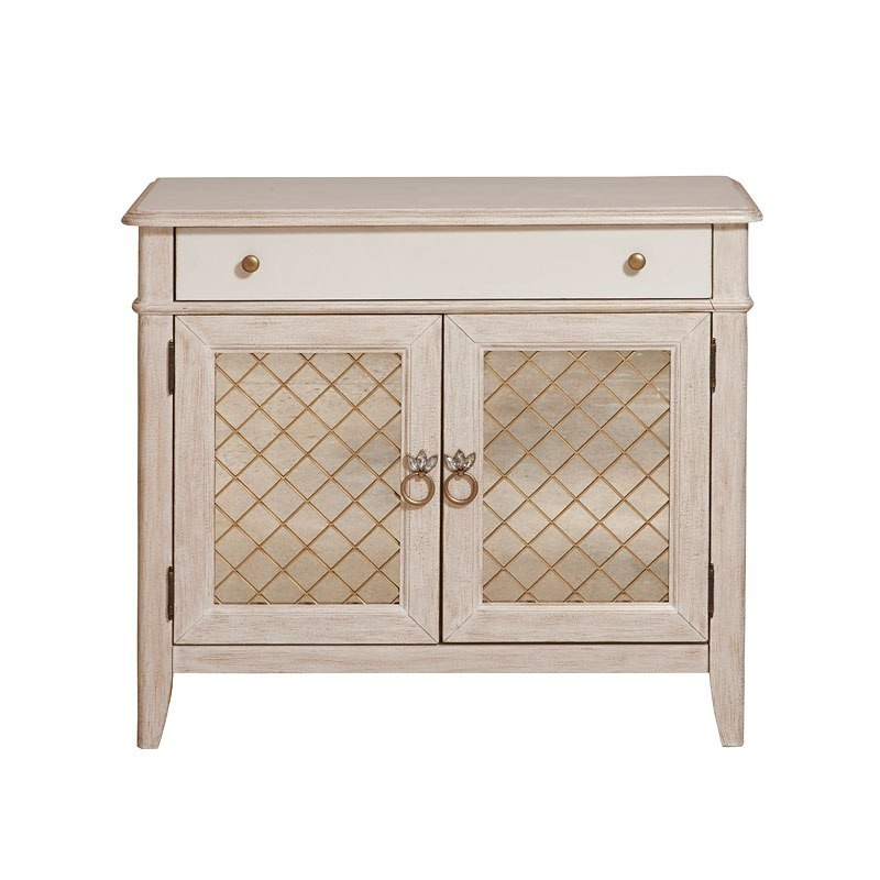 Reece Brushed White Media Chest