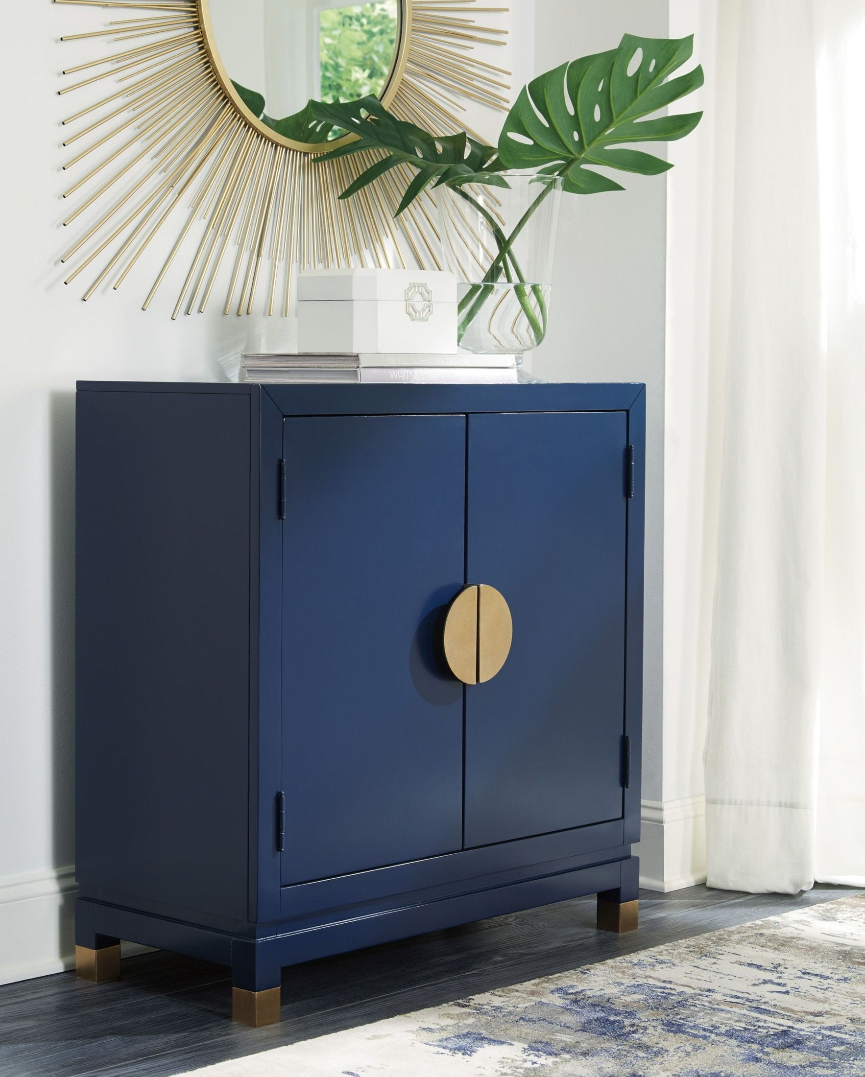 exciting living room blue accents   Walentin Blue Accent Cabinet - 1StopBedrooms.