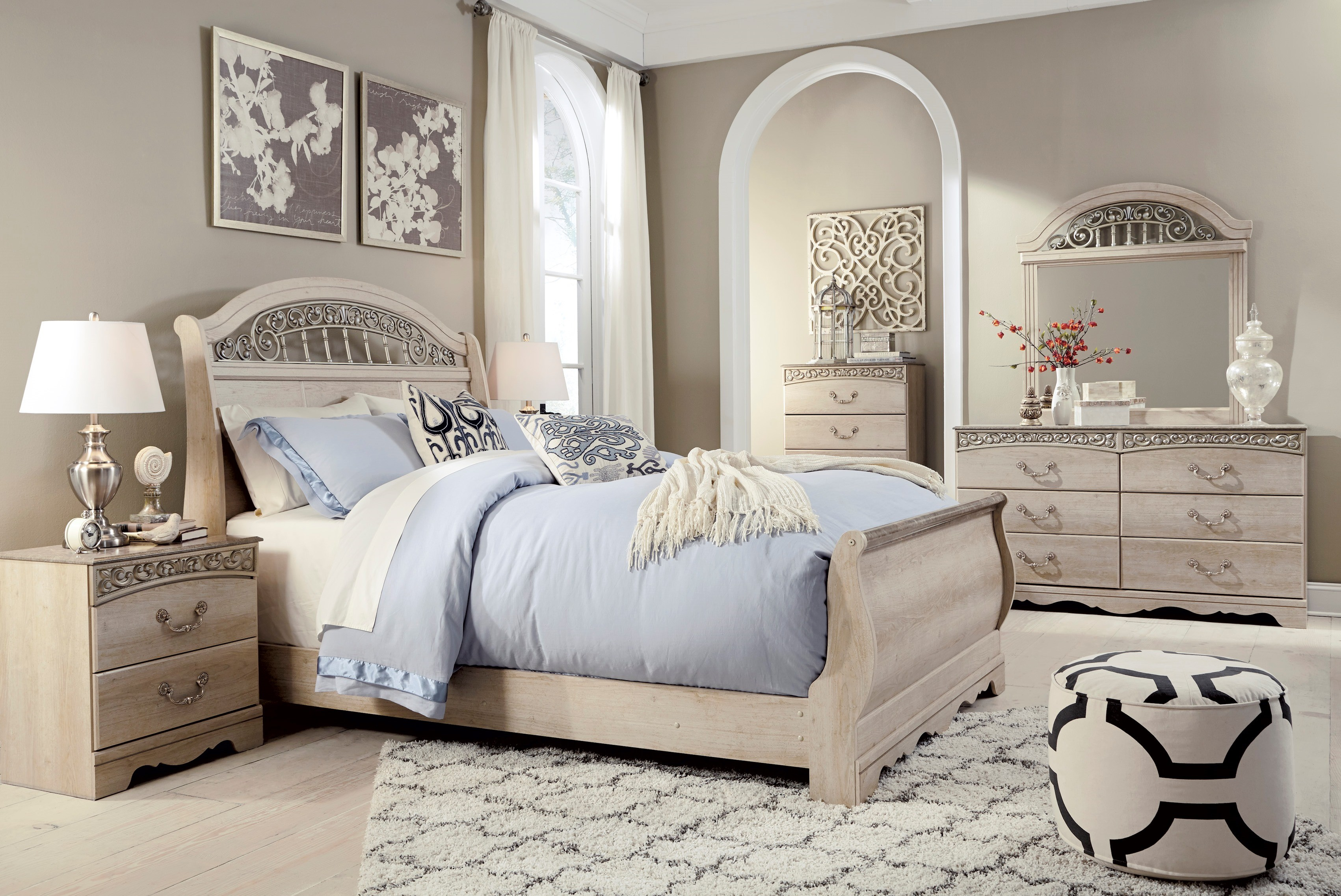 Signature design by ashley catalina sleigh bedroom set - Ashley furniture pheasant run bedroom set ...