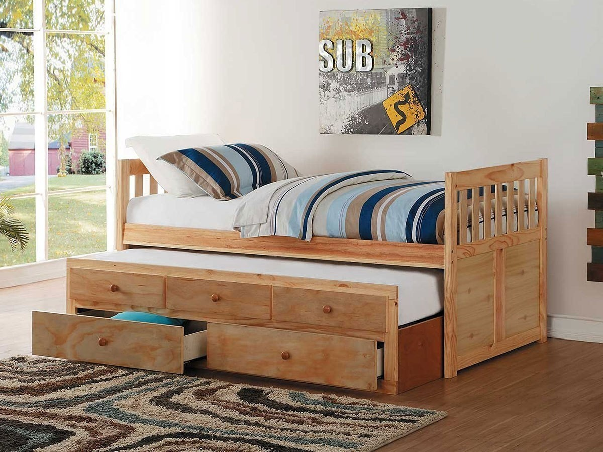 Bartly Twin Trundle Bed W Storage