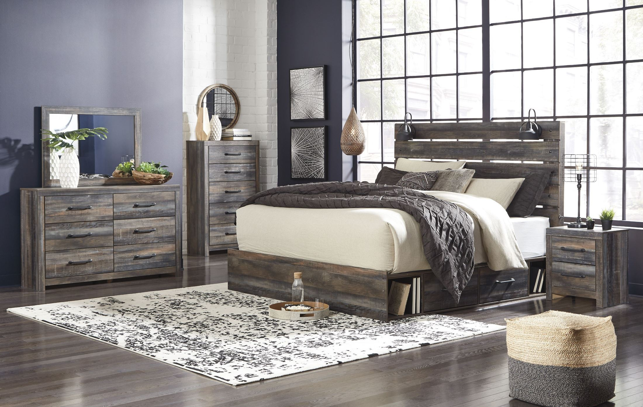 Drystan Multi Queen Panel Bed With Two Underbed Storage