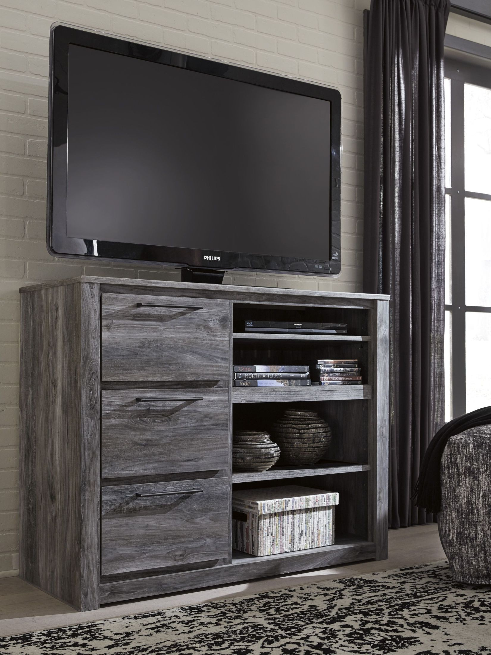 Signature Design By Ashley Baystorm Gray Media Chest