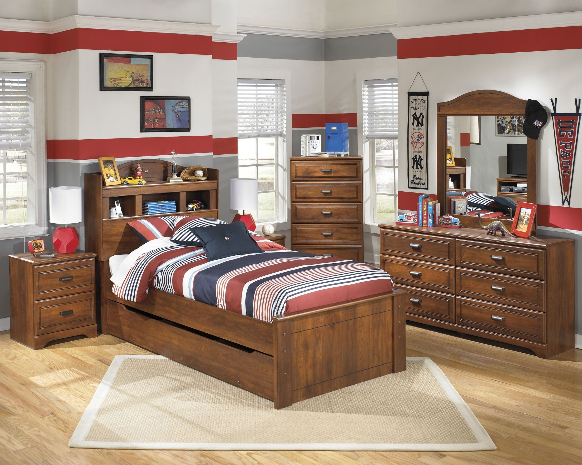 ... Barchan Youth Trundle Bookcase Bedroom Set Media Gallery 1 ...