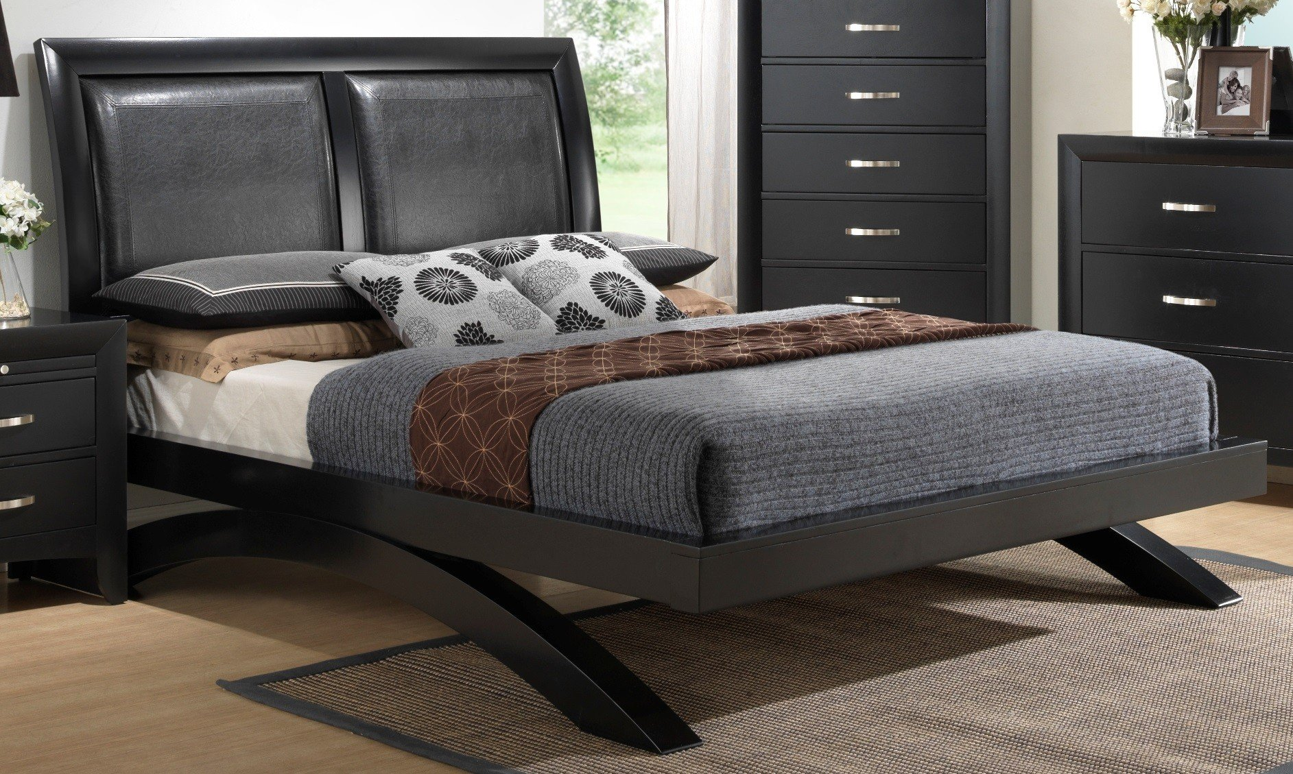 Crown Mark Furniture Galinda Arch Bedroom Set In Black