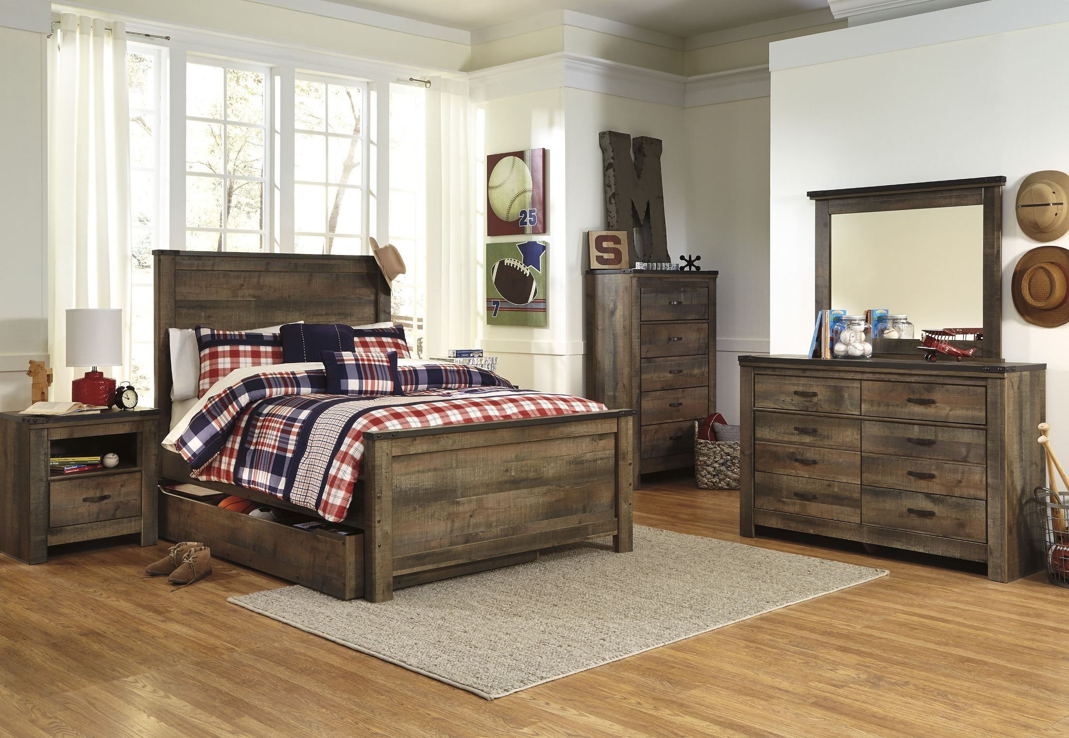 Trinell brown panel bedroom set 1stopbedrooms - Bedroom furniture sets buy now pay later ...