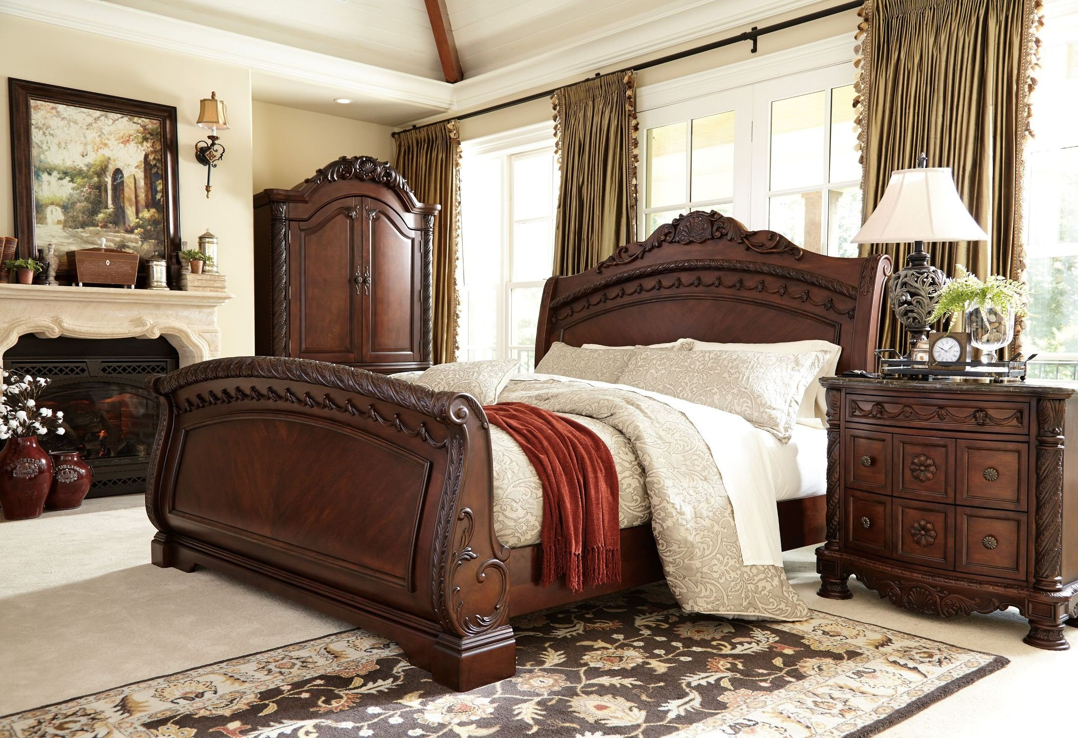 North Shore Sleigh Bedroom Set 1stopbedrooms