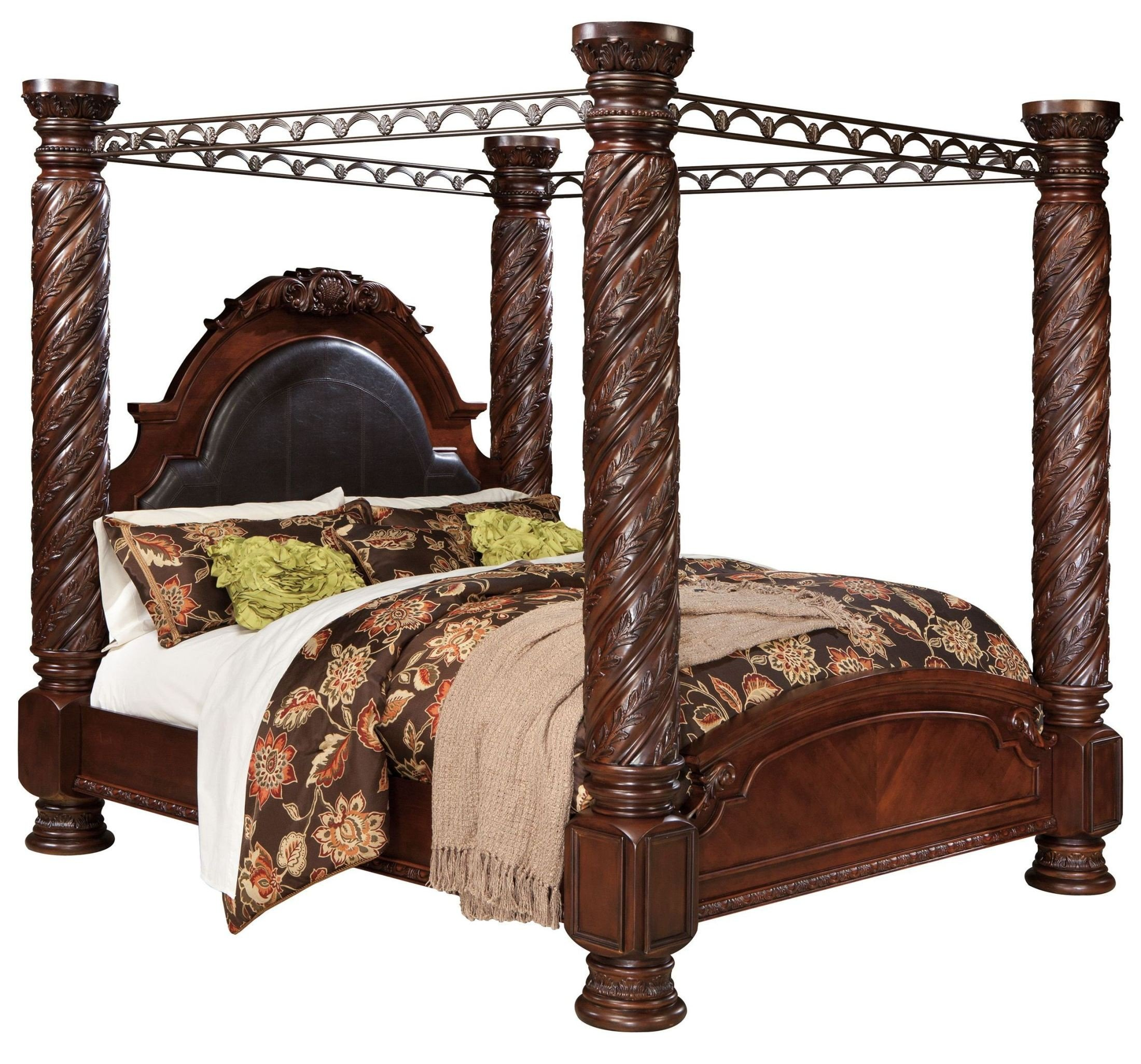 North Shore King Poster Bed With Canopy 1stopbedrooms