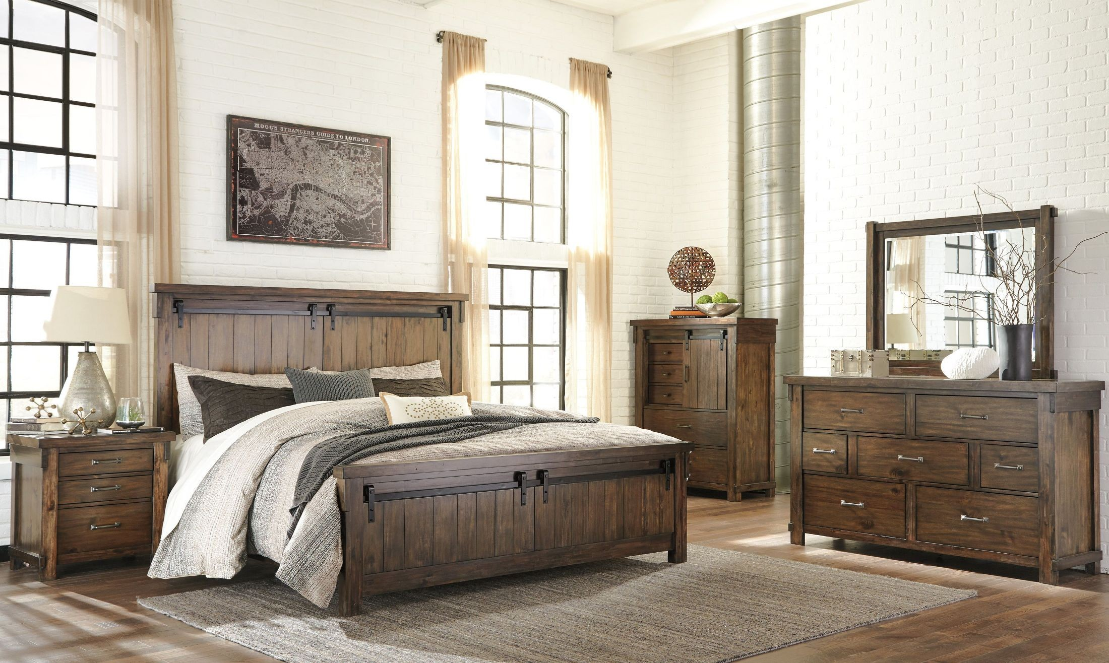 Lakeleigh Brown Cal King Panel Bed 1stopbedrooms