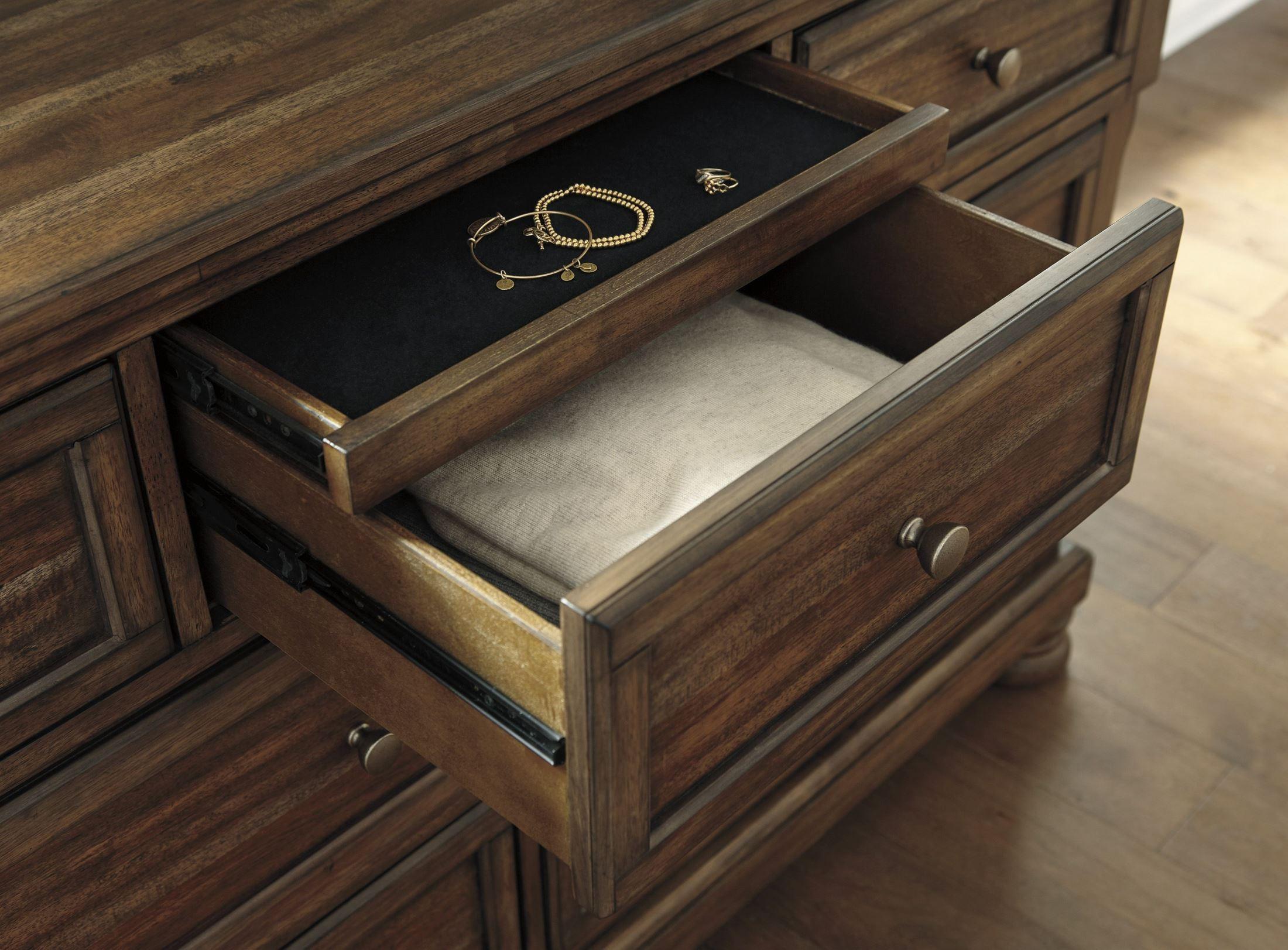 Flynnter Porter Medium Brown Sleigh Storage Bedroom Set Media Gallery 9