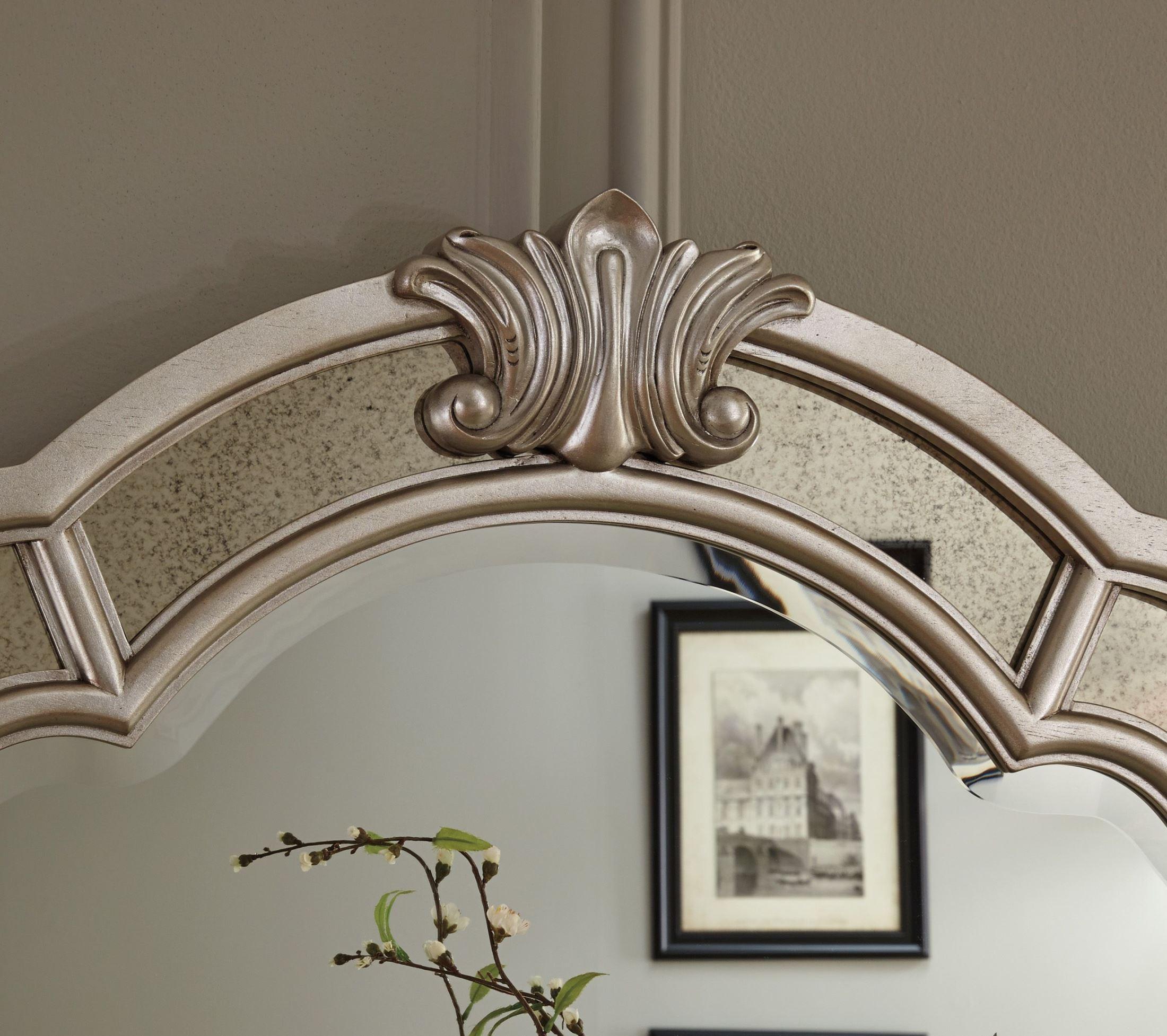 Birlanny Silver Upholstered Panel Bedroom Set Media Gallery 7