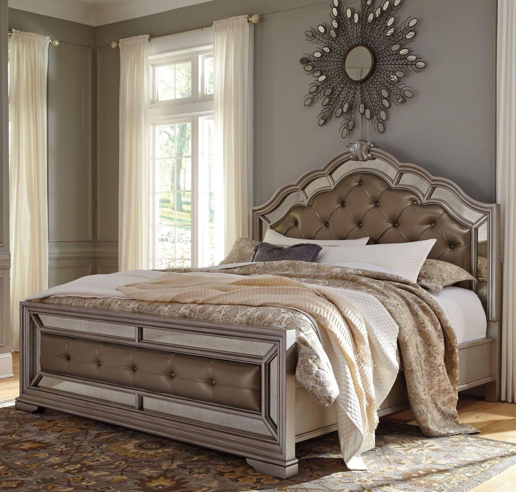Birlanny Silver Upholstered Panel Bedroom Set Media Gallery 2