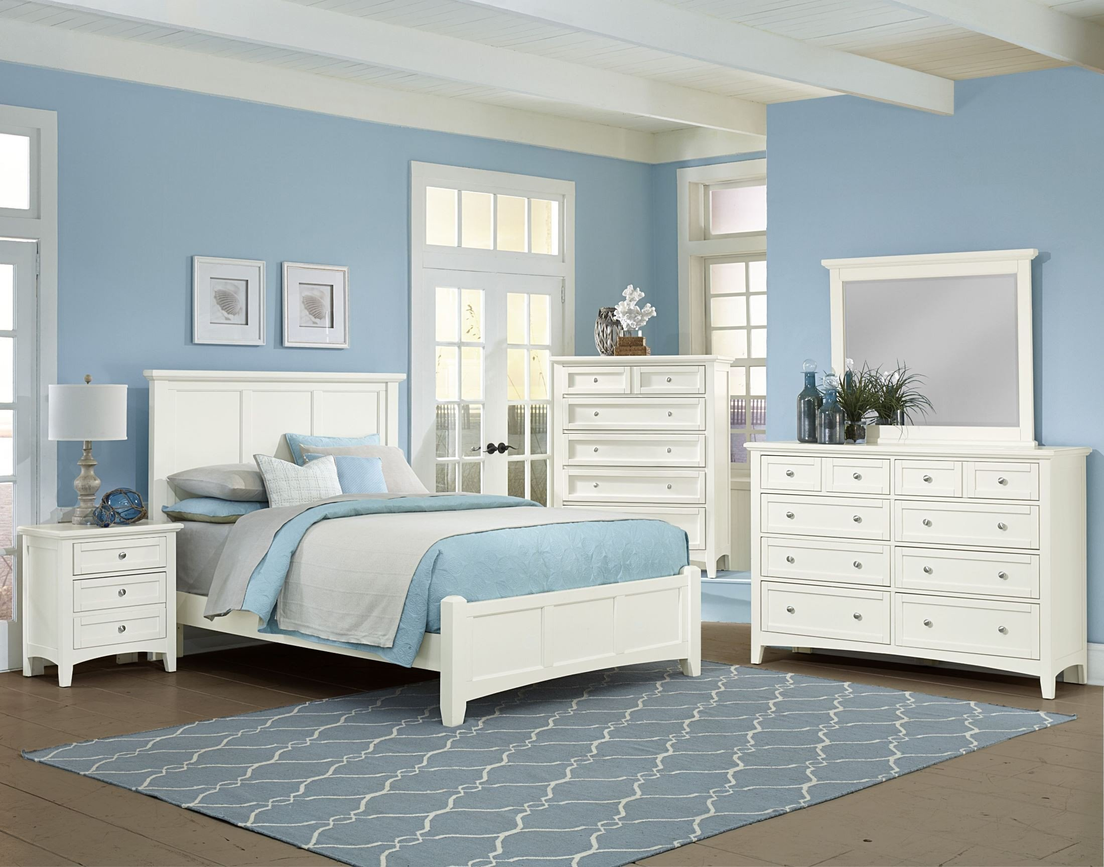 Bonanza white mansion bedroom set 1stopbedrooms - Bedroom furniture sets buy now pay later ...