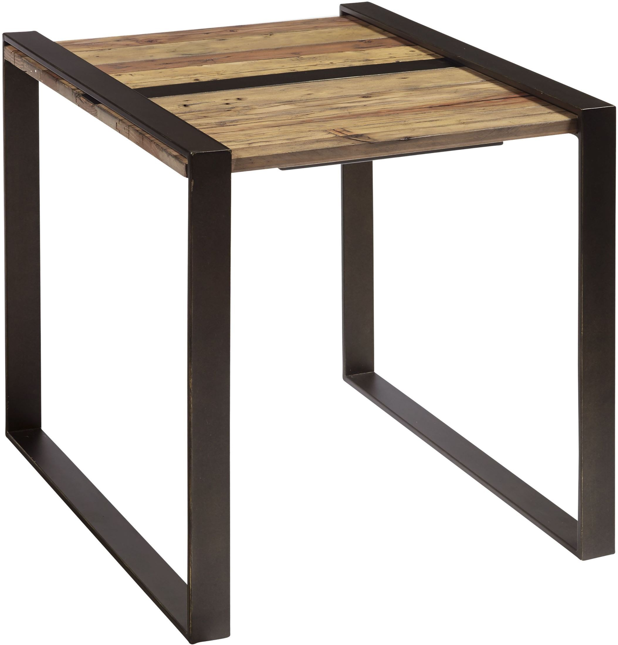 Reclaimed Wood And Metal Brown Occasional Table Set 1stopbedrooms