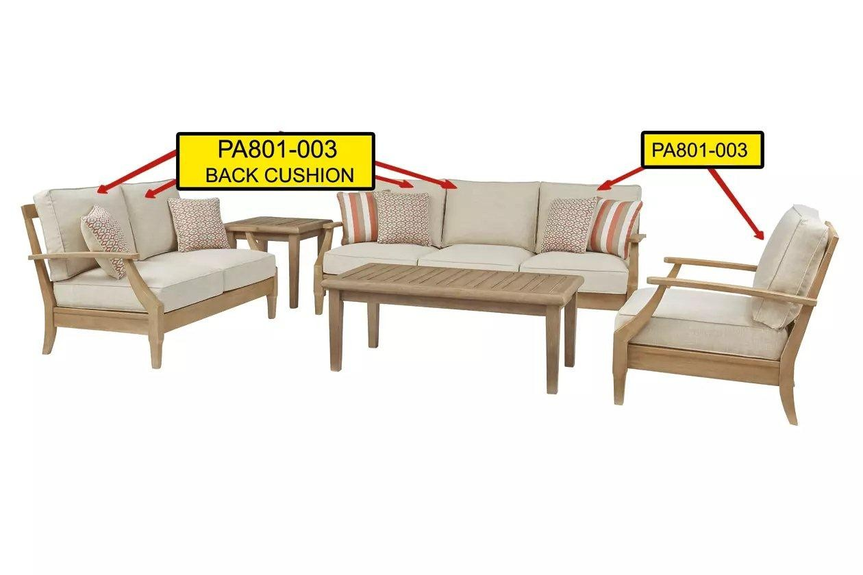 Clare View Beige Back Cushion - 1StopBedrooms. on Clare View Beige Outdoor Living Room id=80533