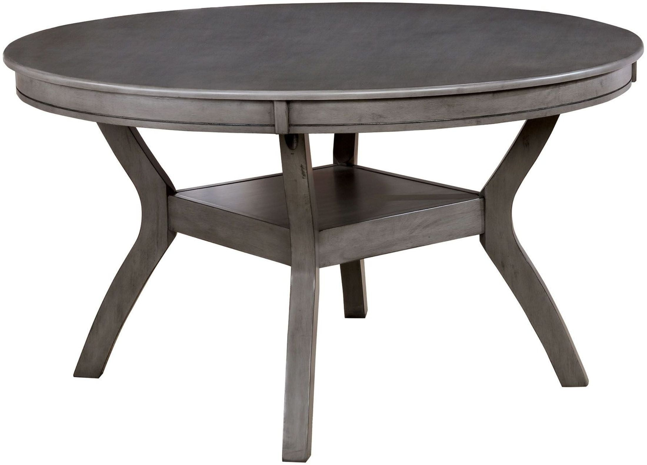 Dining Table; Side Chair  sc 1 st  1StopBedrooms & Furniture of America Juniper Gray Round Dining Room Set - Juniper ...