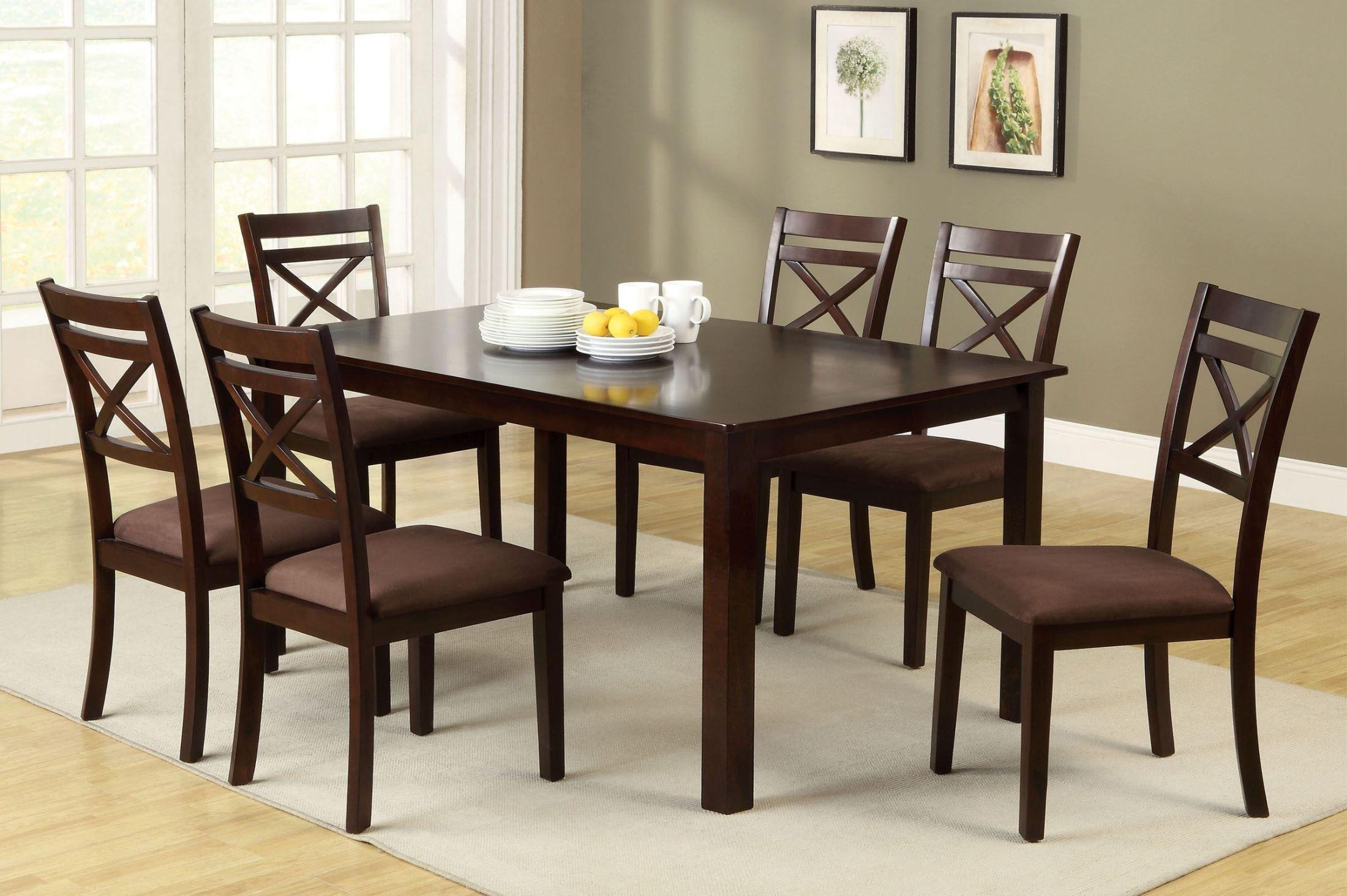 Furniture Of America Weston Ii 7 Piece Dining Table Set Weston