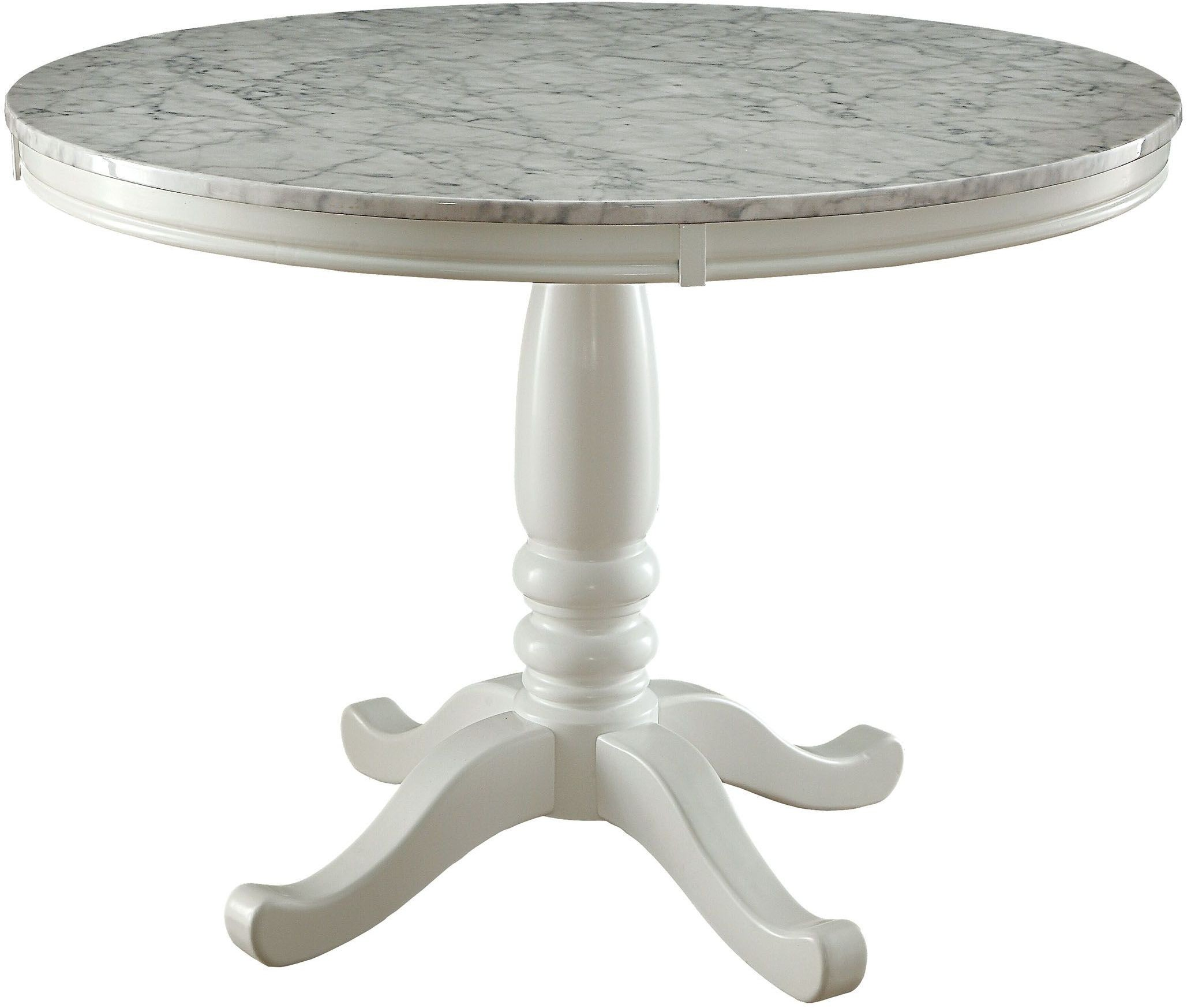 Round White Dining Tables: Penelope White Round Dining Table