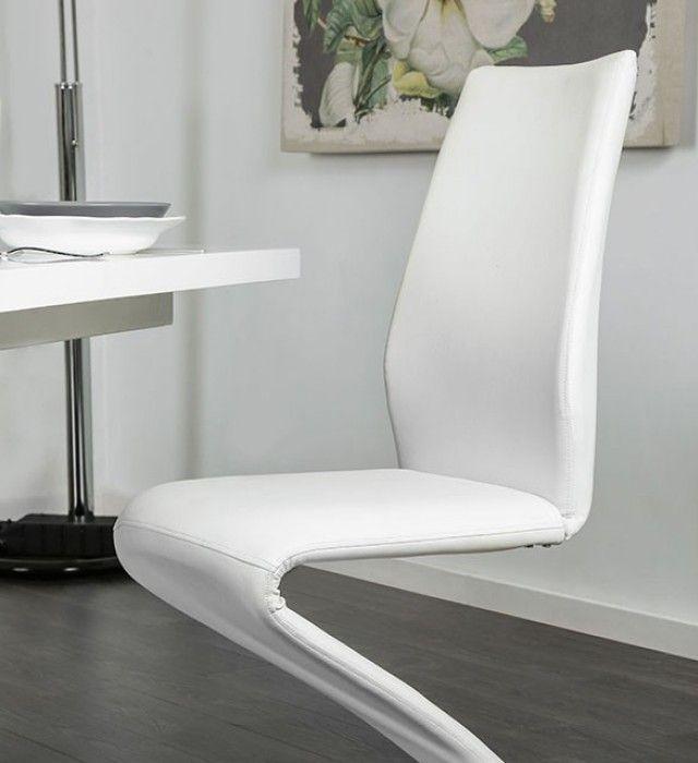 Chrome Dining Room Sets: Midvale White And Chrome Extendable Rectangular Dining