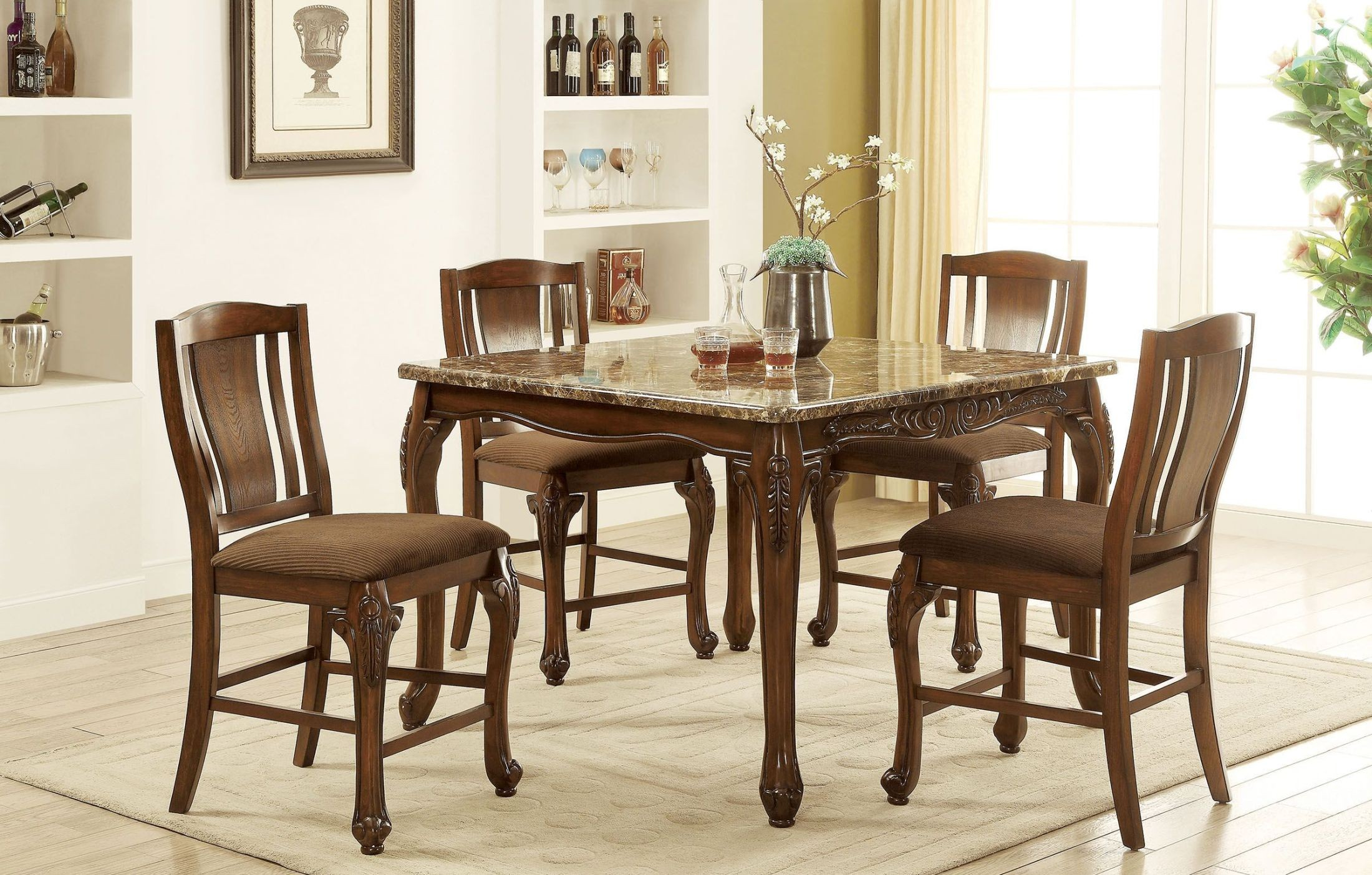 bf219e19bc ... Johannesburg Brown Cherry Counter Height Dining Table Media Gallery 2