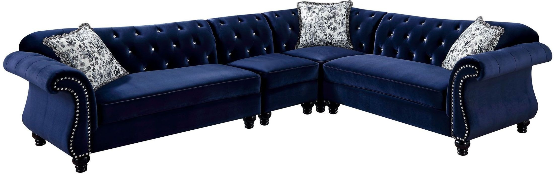 Jolanda Ii Blue Sectional Furniture Plus