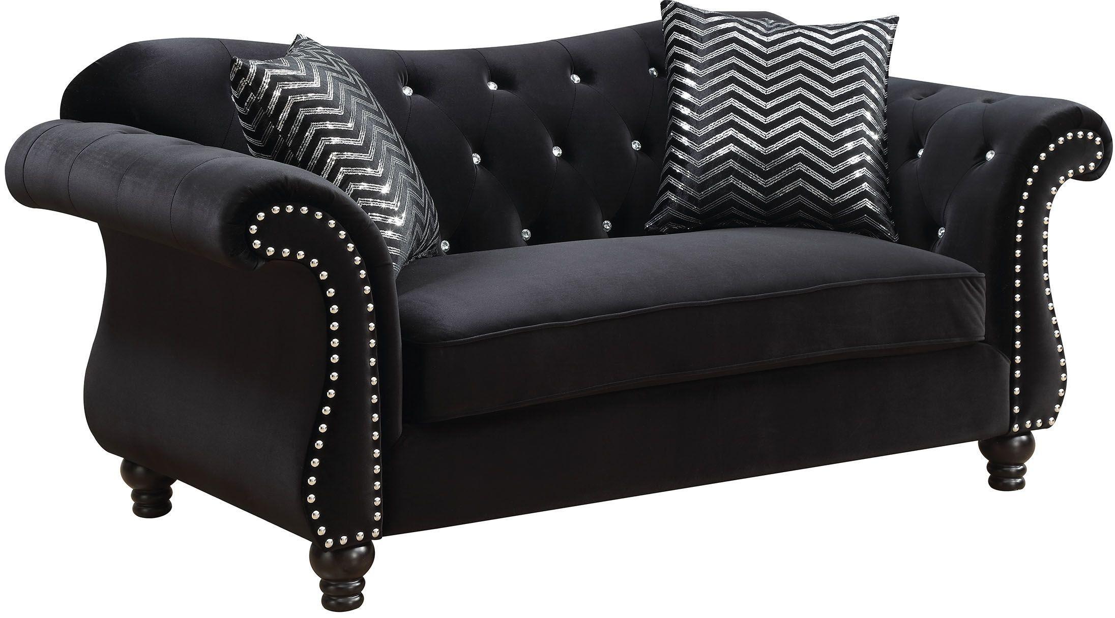 Furniture Of America Jolanda I Black Living Room Set Jolanda