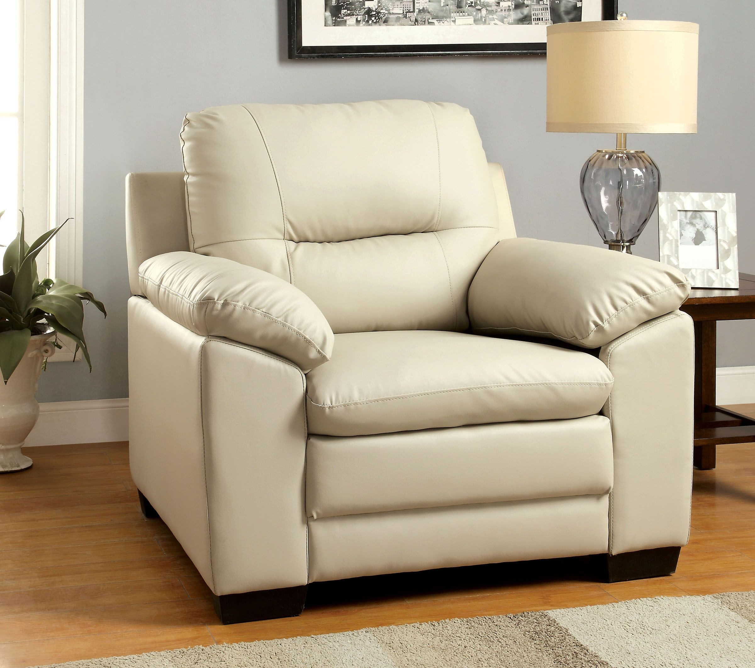 Ivory Living Room Furniture: Furniture Of America Parma Ivory Leatherette Living Room