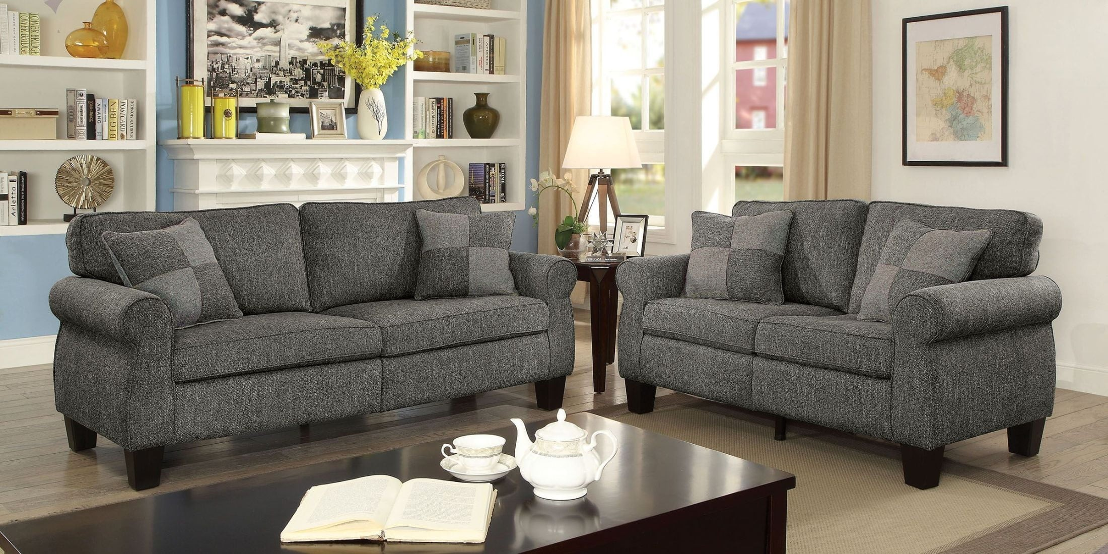 Rhian Dark Gray Living Room Set 1stopbedrooms