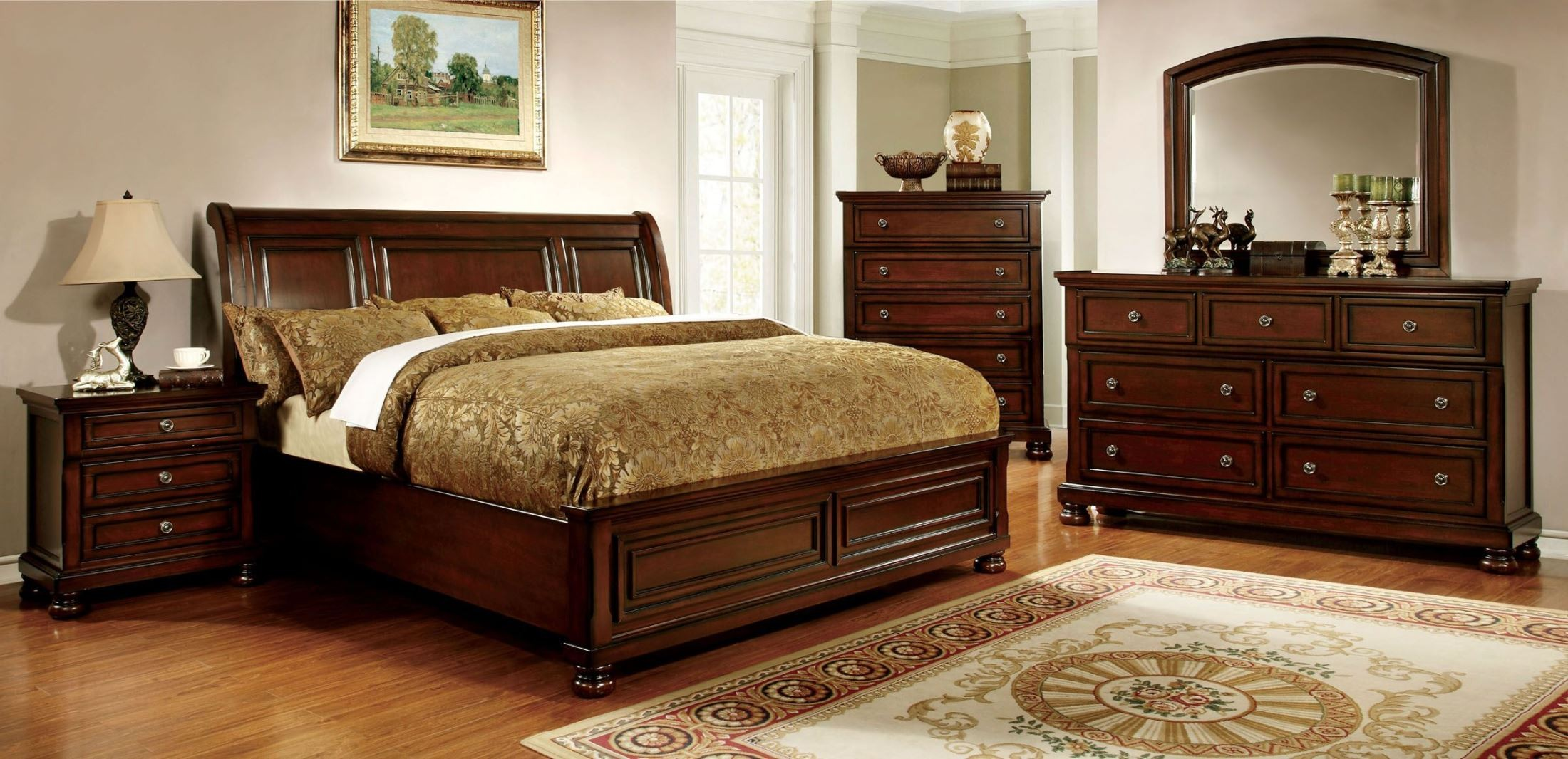 Northville dark cherry queen bed 1stopbedrooms - Bedroom furniture sets buy now pay later ...