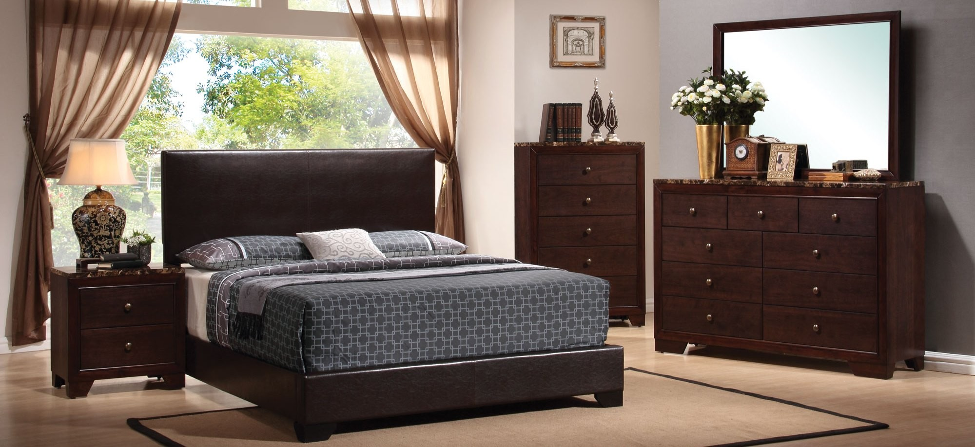 Conner Black Youth Low Profile Bedroom Set - 1StopBedrooms.