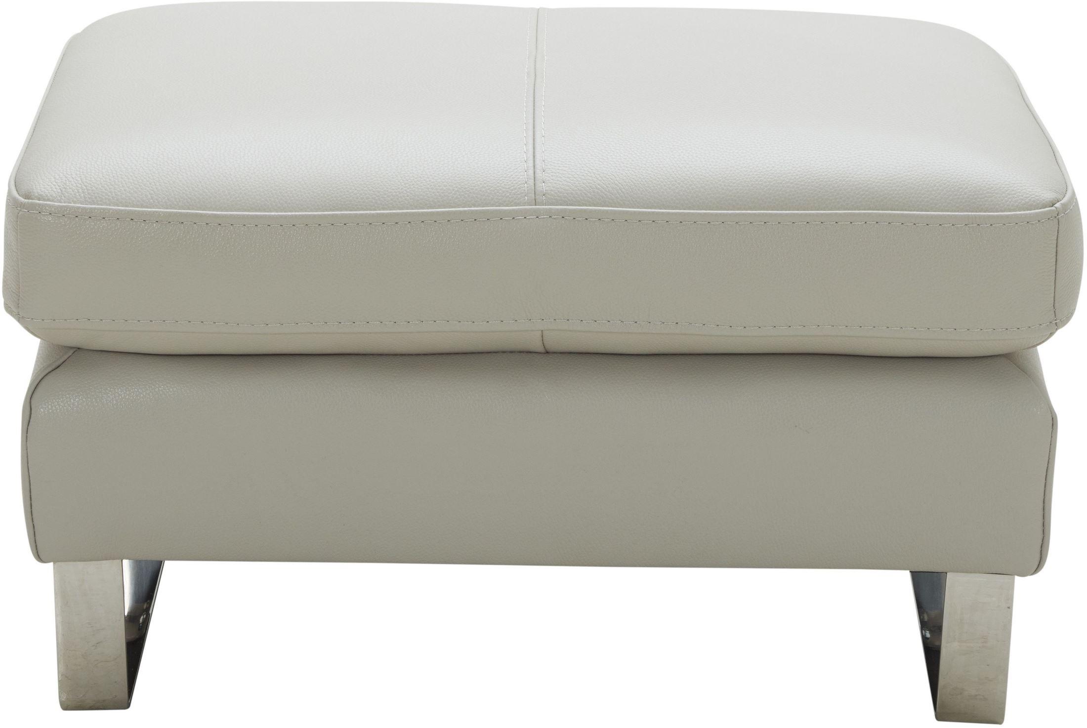 Excellent Constantin Light Grey Leather Ottoman Inzonedesignstudio Interior Chair Design Inzonedesignstudiocom