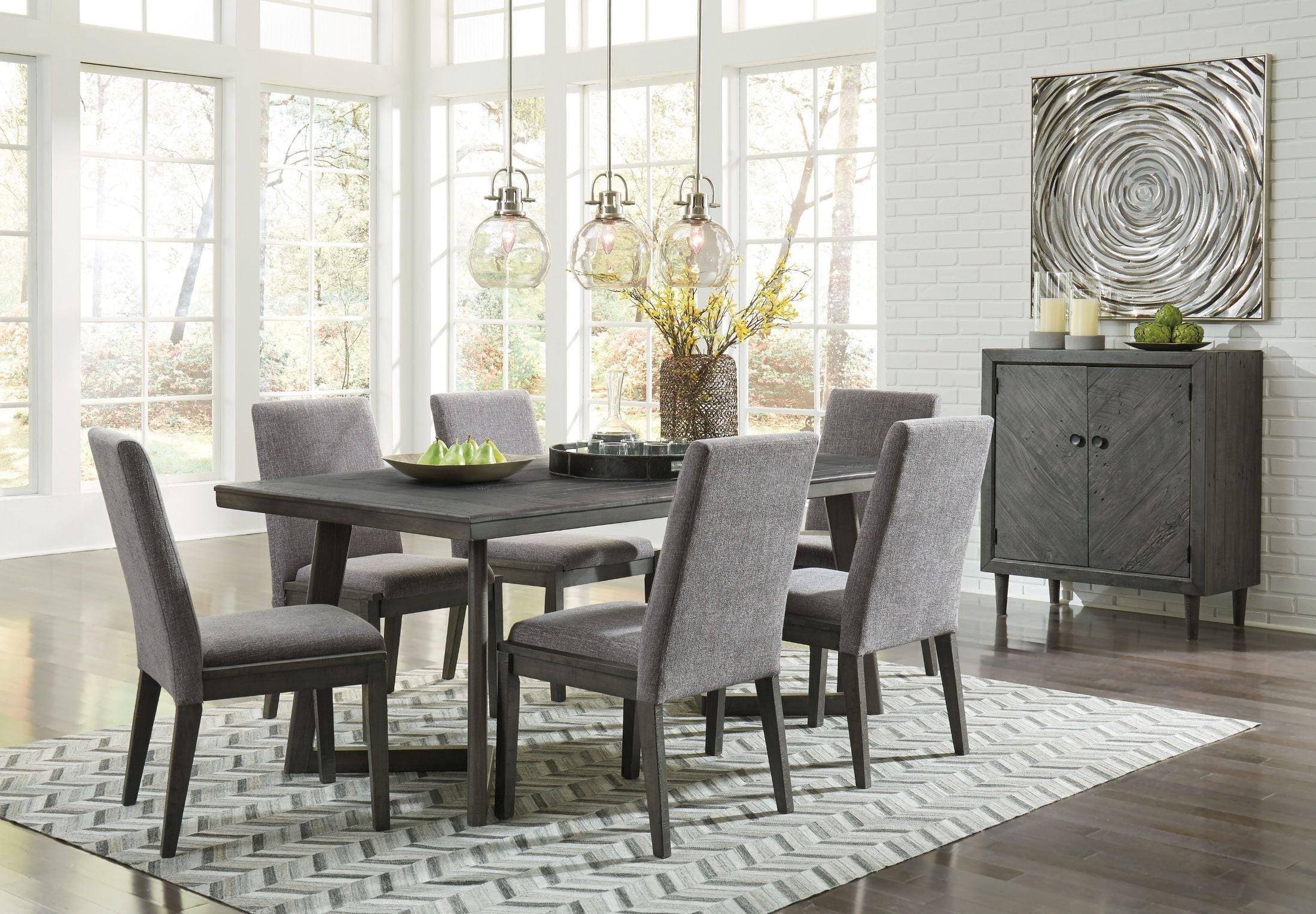 dining room set up ideas | Besteneer Gray Rectangular Dining Room Set - 1StopBedrooms.