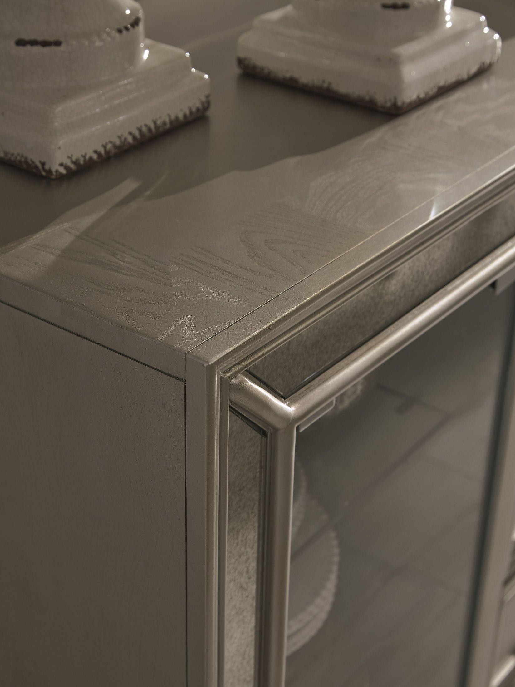 new style 09ada 82939 Birlanny Silver Rectangular Extendable Dining Room Set ...